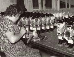 Historische Montage von Nußknackern
