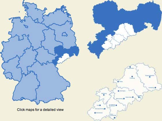 Regions Of Germany Map.The German Erzgebirge