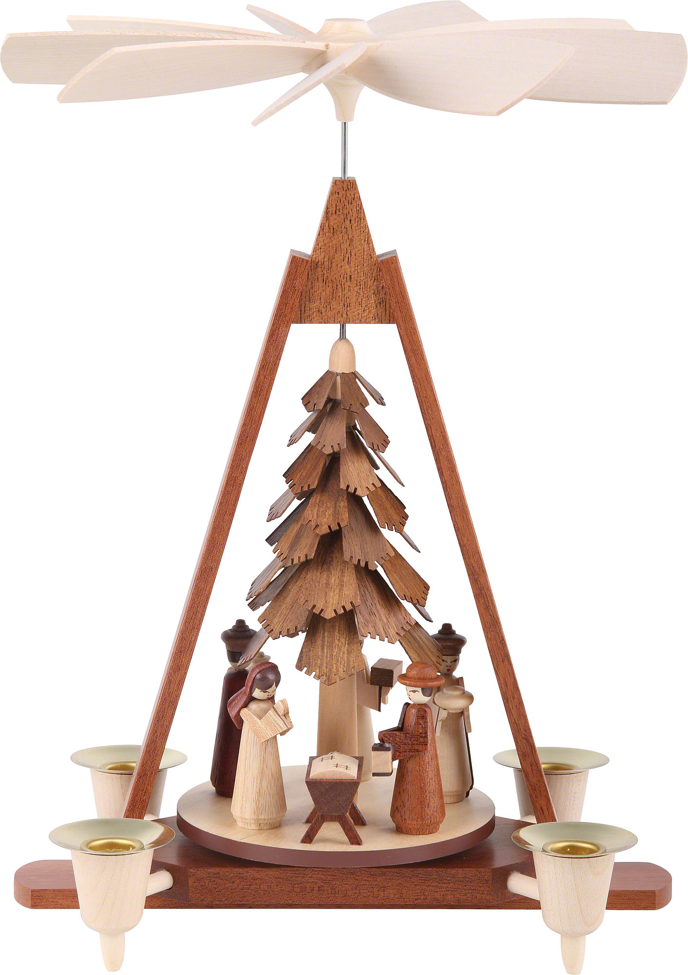 Christmas Pyramid.1 Tier Christmas Pyramid Nativity Scene 29 Cm 11 Inch