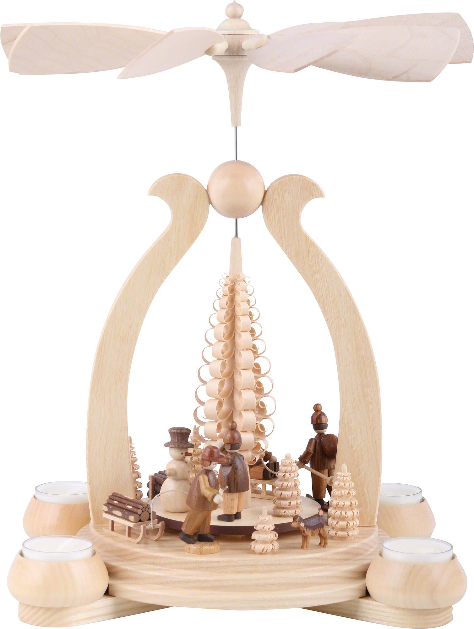 1 tier pyramid winter motif 34 cm 13in by m ller kleinkunst. Black Bedroom Furniture Sets. Home Design Ideas