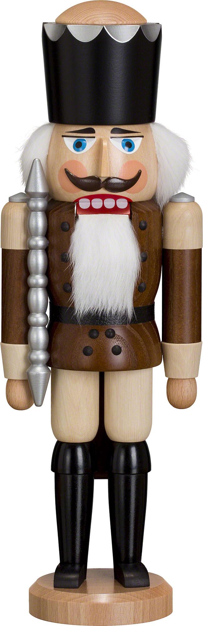 NUßKNACKER König natur50cm NEU Erzgebirge Volkskunst Original Weihnacht Seiffen