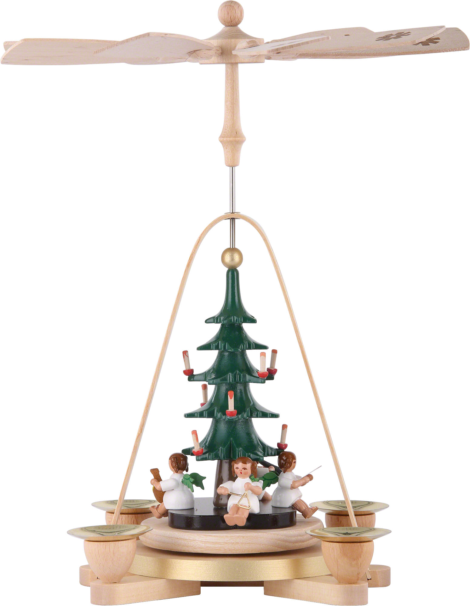 1 Tier Pyramid Angel With Christmas Tree 28 Cm 11 Inch