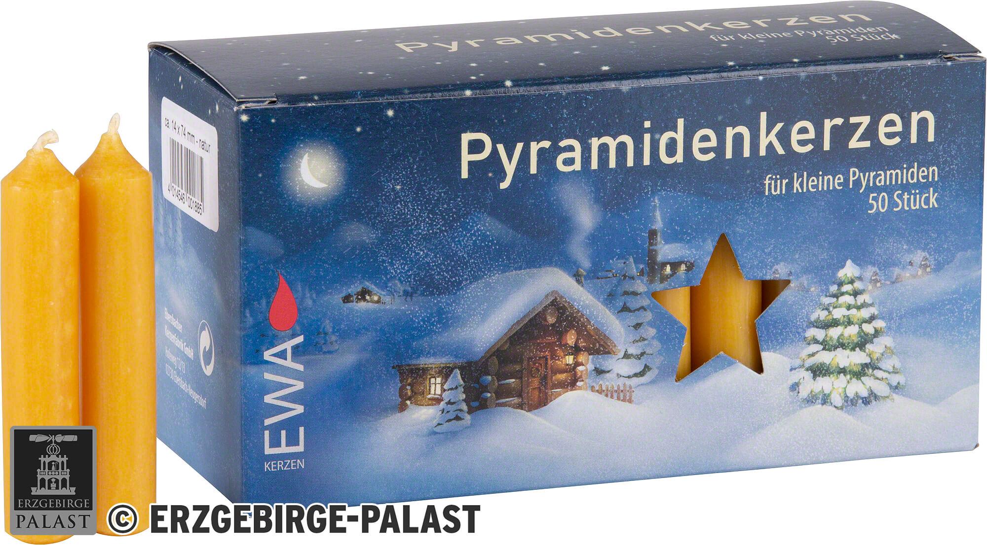 24 rote Pyramidenkerzen /Ø 1,4 cm