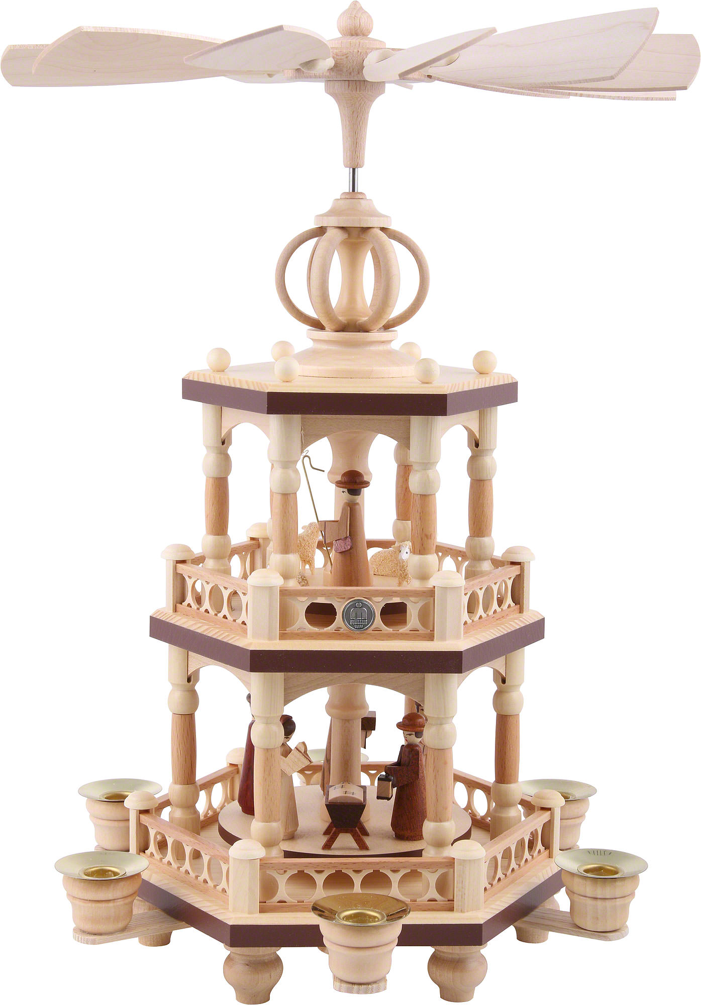 Christmas Pyramid.2 Tier Christmas Pyramid The Christmas Story 40 Cm 16 Inch