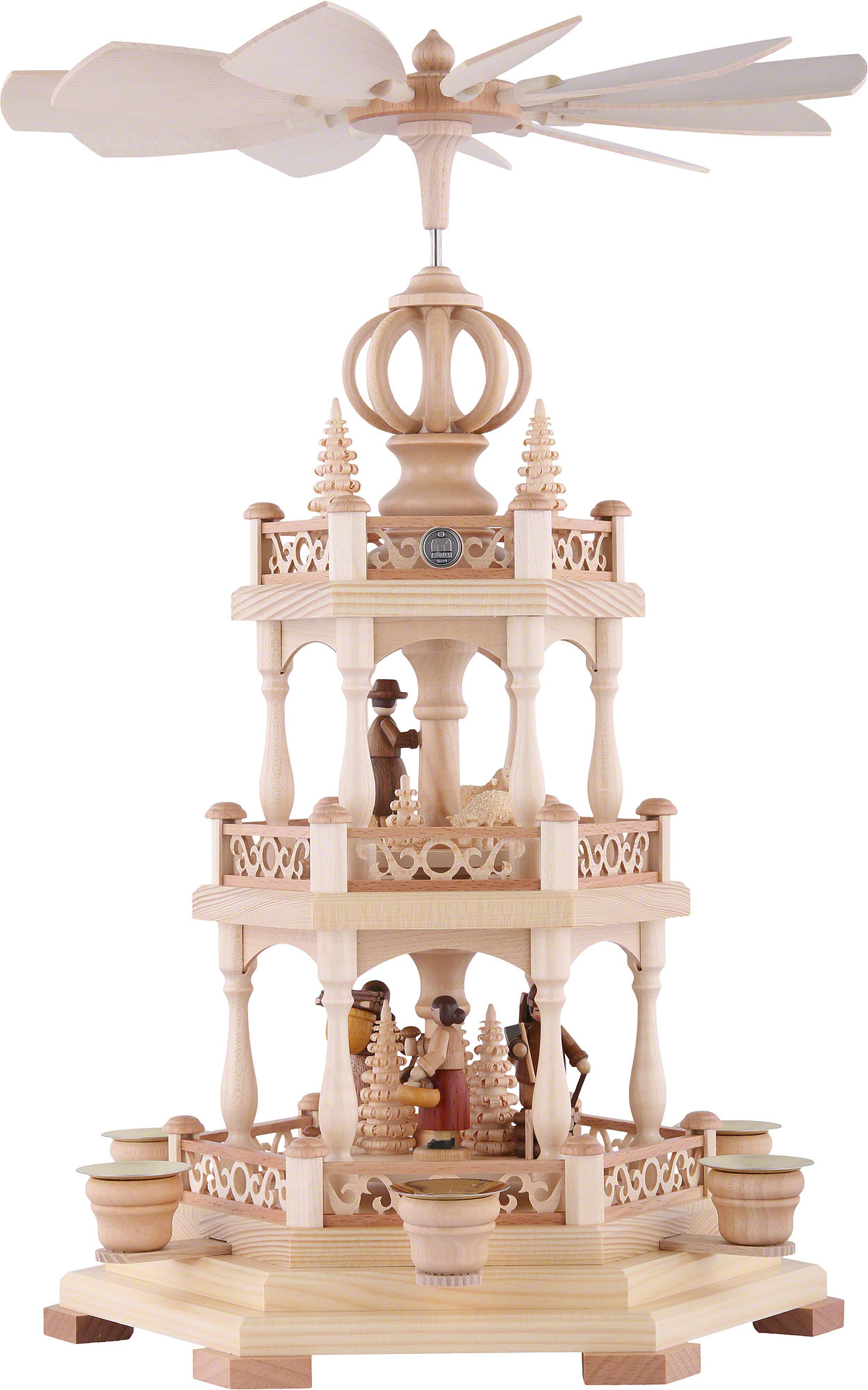 Christmas Pyramid.3 Tier Christmas Pyramid Forest Scene 45 Cm 18 Inch