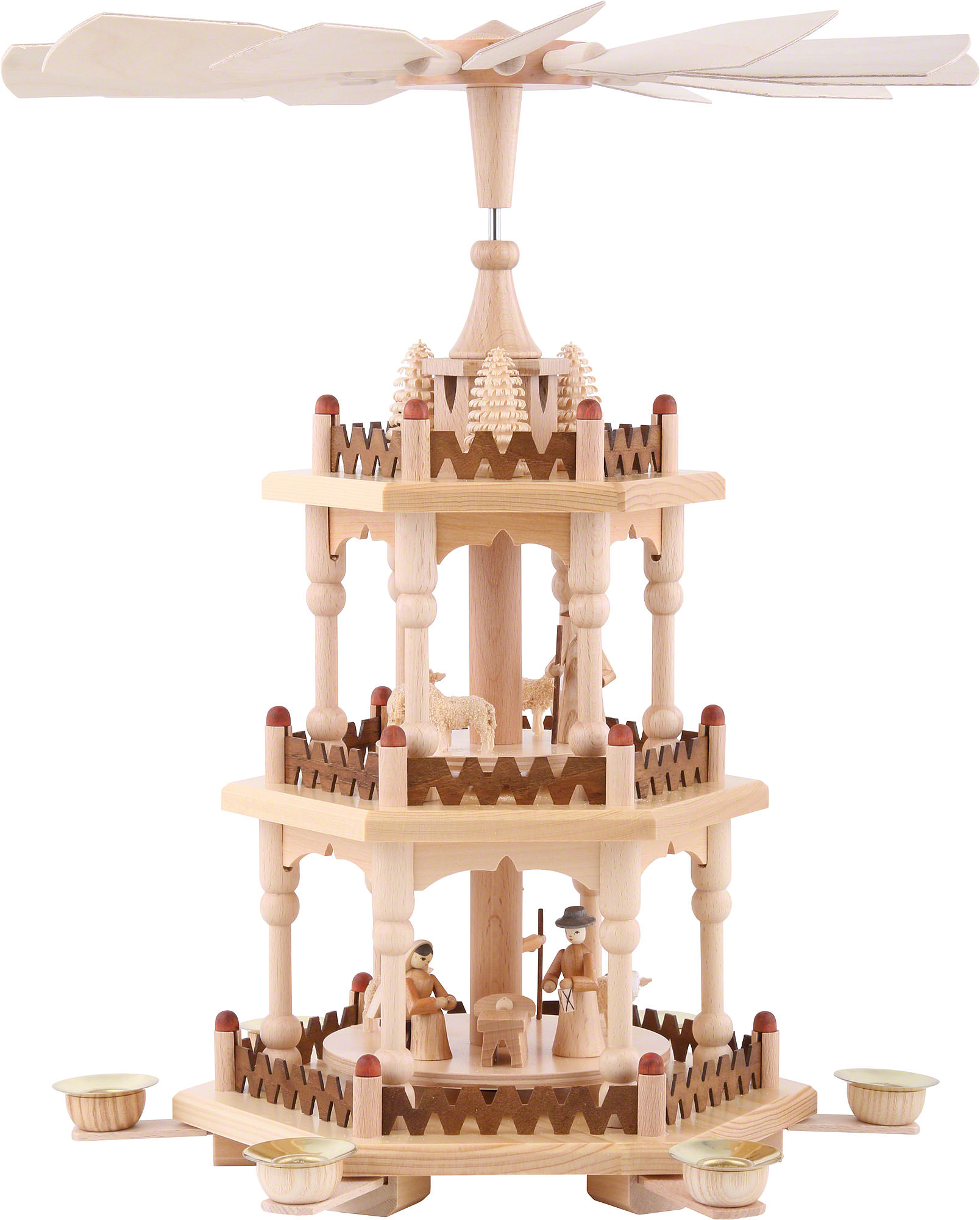 3-Tier Pyramid - Merry Christmas (41 cm/16in) by Theo Lorenz ...
