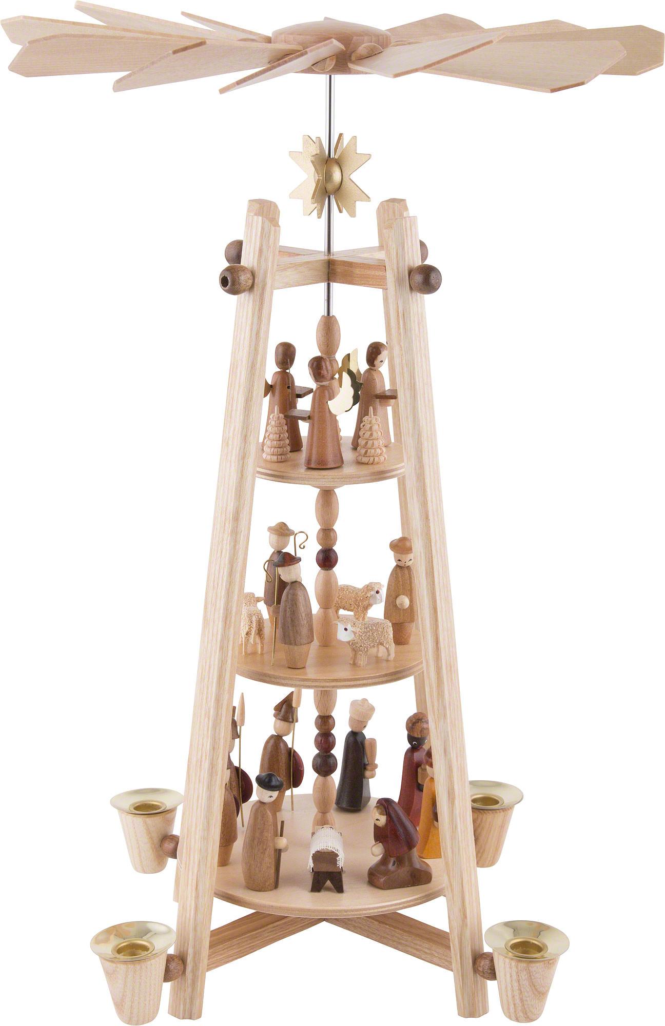 3 tier pyramid nativity scene 44 cm 16in by dregeno. Black Bedroom Furniture Sets. Home Design Ideas