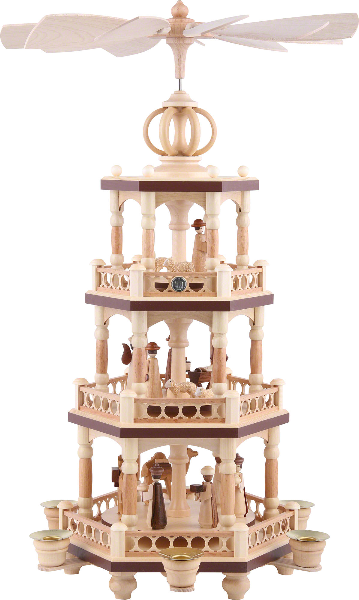 Christmas Pyramid.3 Tier Pyramid The Christmas Story 51 Cm 20 Inch