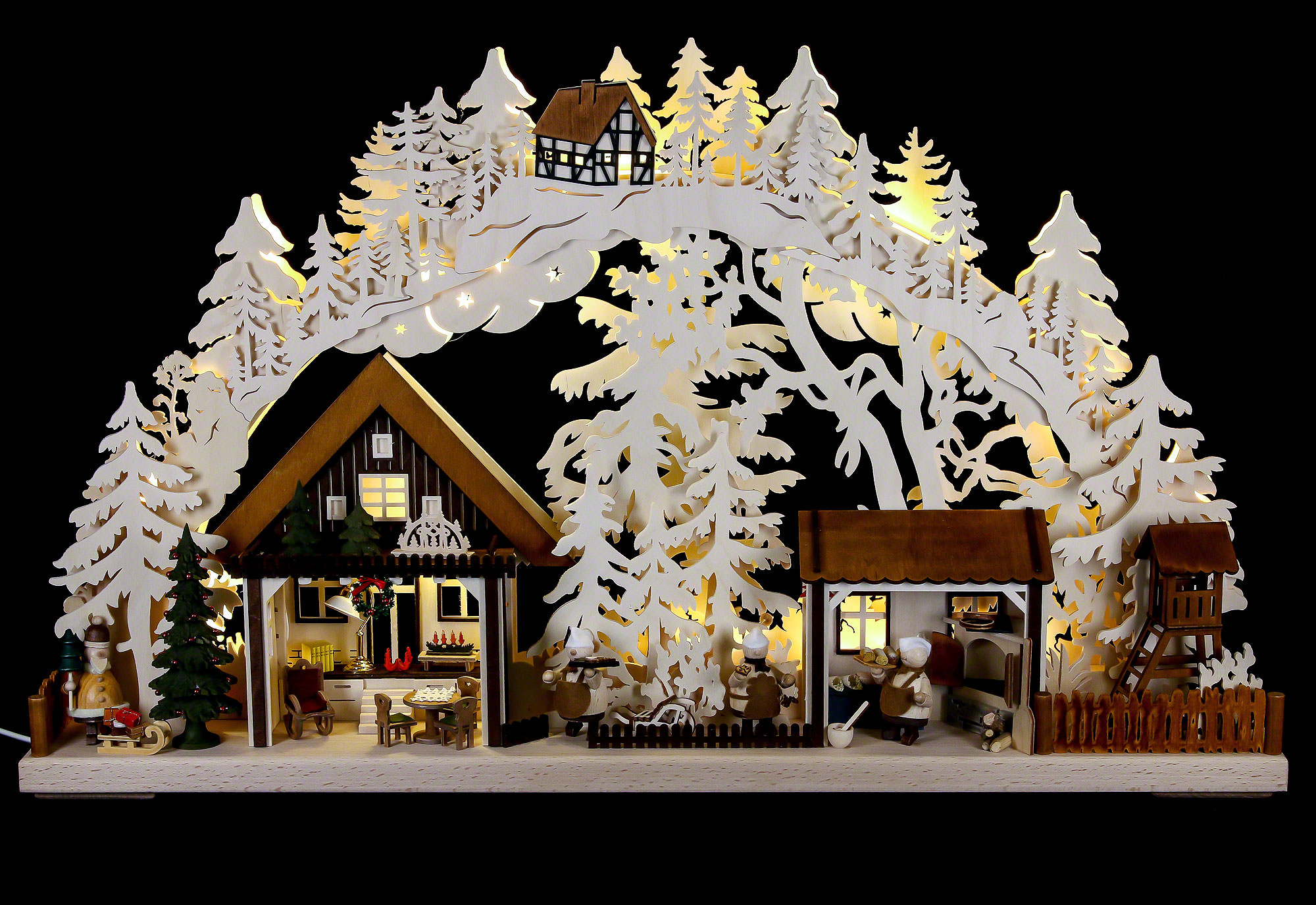 German Christmas Decoration Wood Lights
