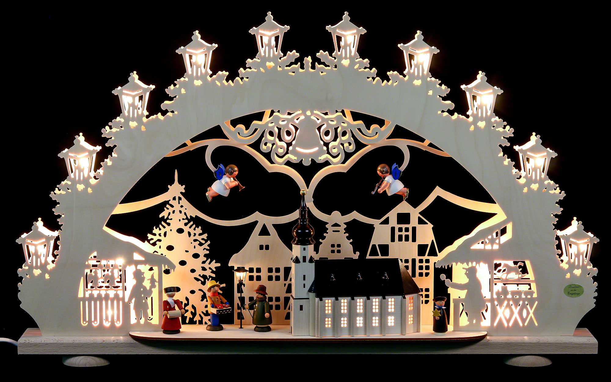 3d light arch old town christmas fair 664011 cm 43 inch - Christmas Arch Decorations
