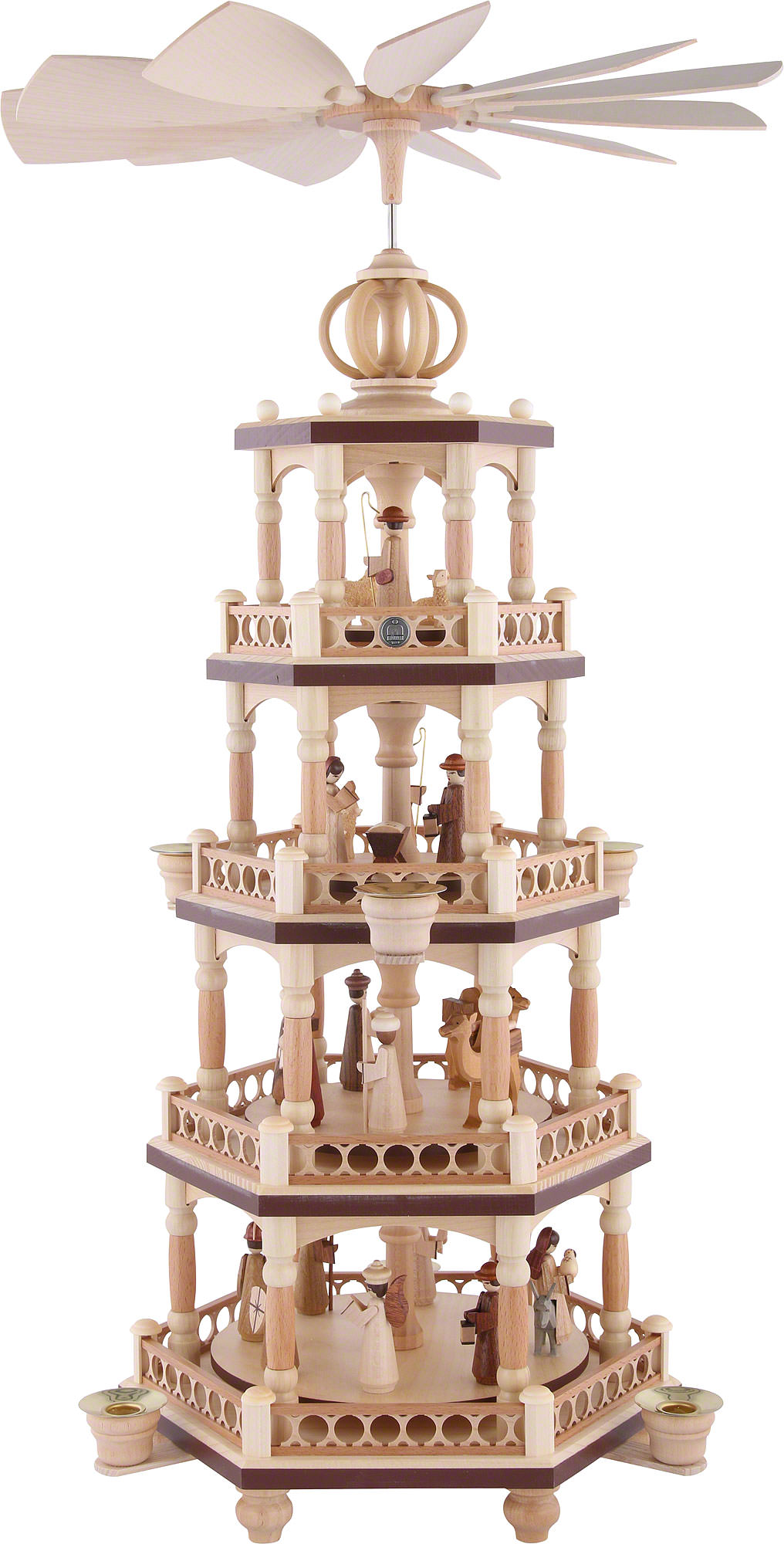 Christmas Pyramid.4 Tier Christmas Pyramid The Christmas Story 64 Cm 25 Inch