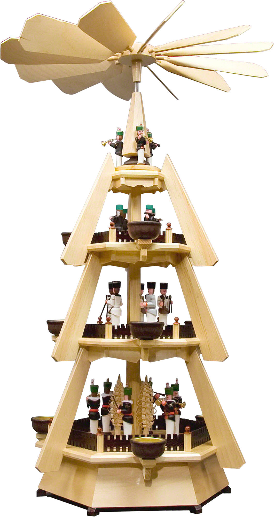 4 tier pyramid miners 74 cm 29in by dregeno seiffen. Black Bedroom Furniture Sets. Home Design Ideas