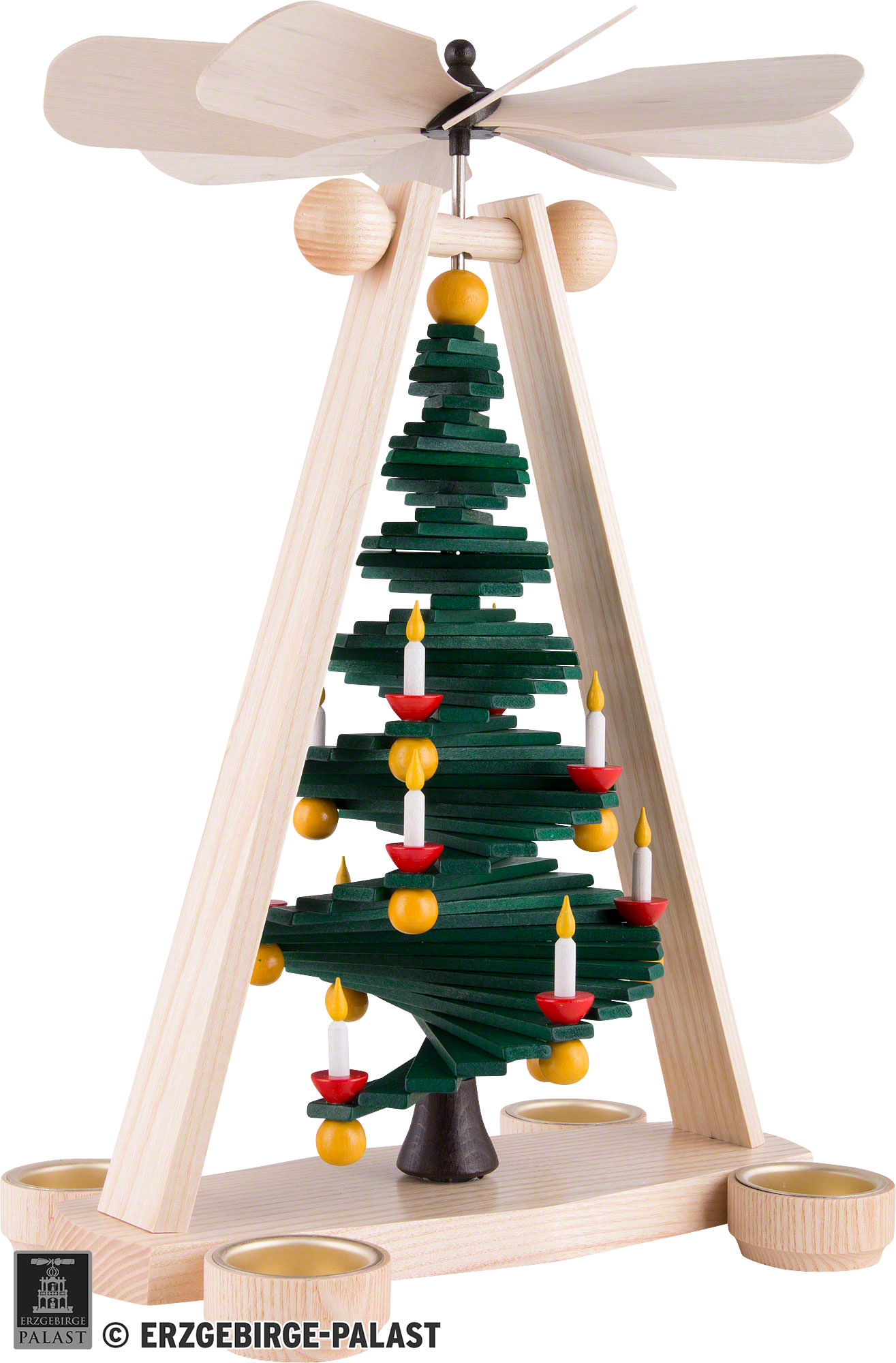 1-Tier Pyramid with Level Christmas Tree (40 cm/15.7in) by ...