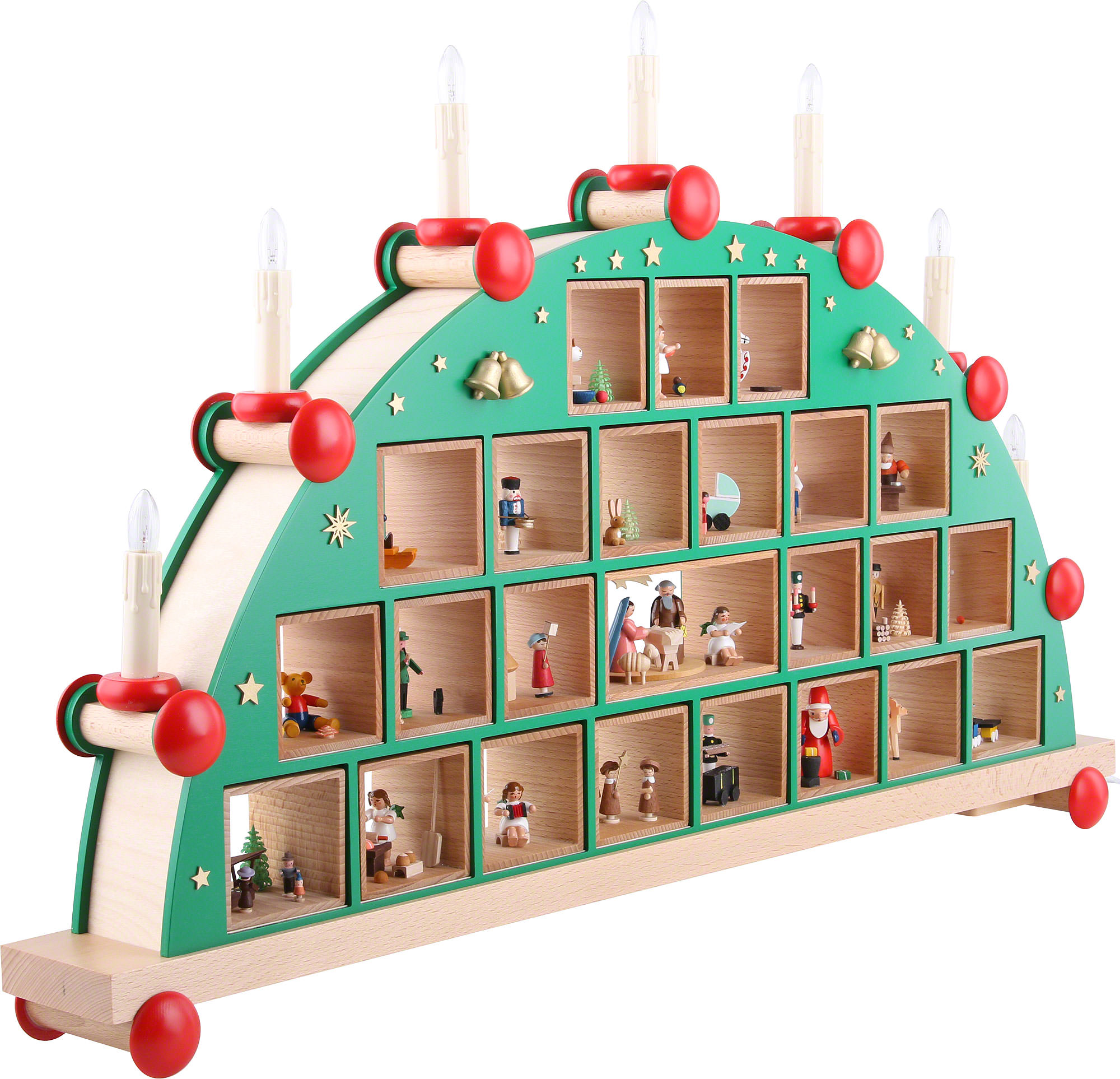candle arch advent calendar 48 76 cm 19 30in by. Black Bedroom Furniture Sets. Home Design Ideas