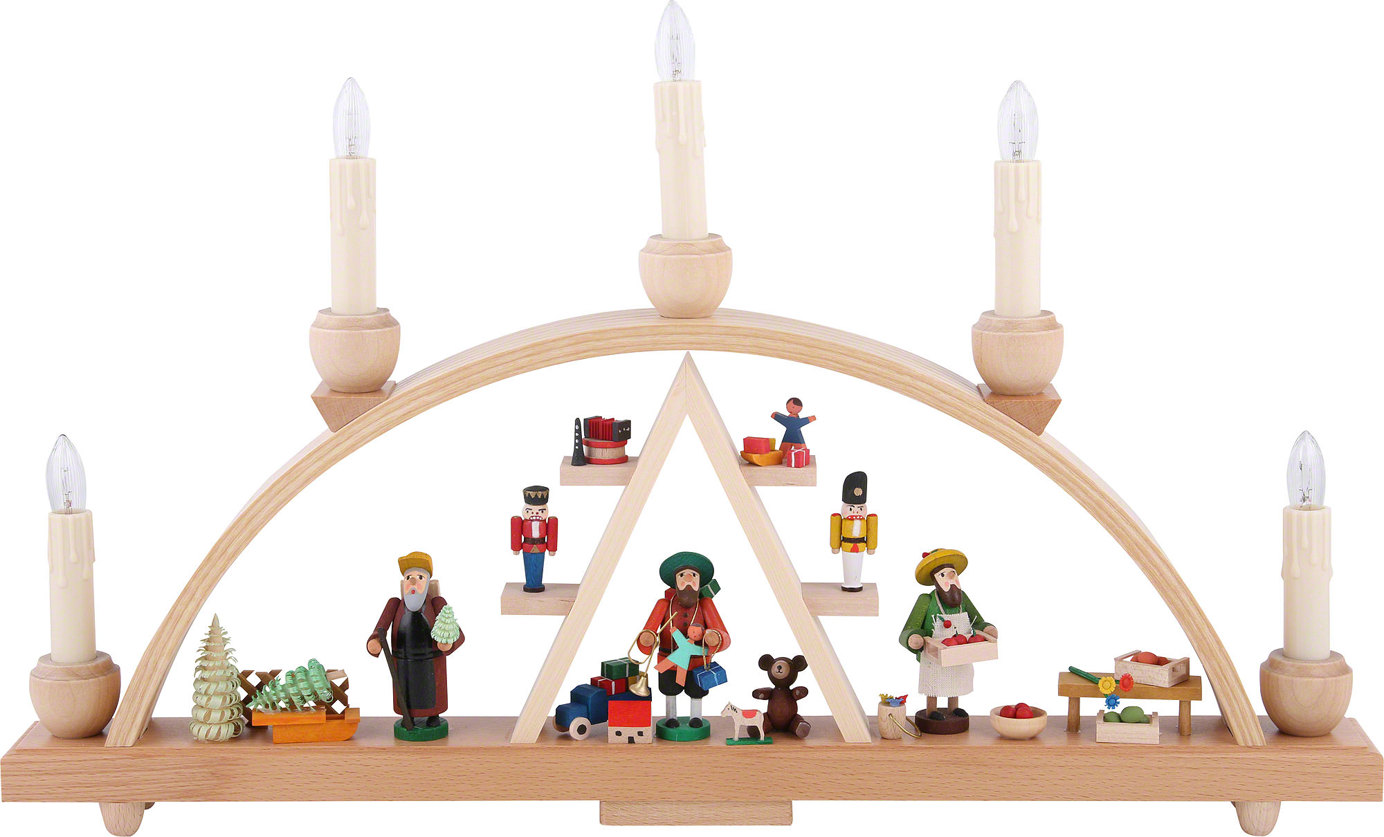 Candle arch christmas at seiffen 19 11in 48 28 cm for Arch candle christmas decoration