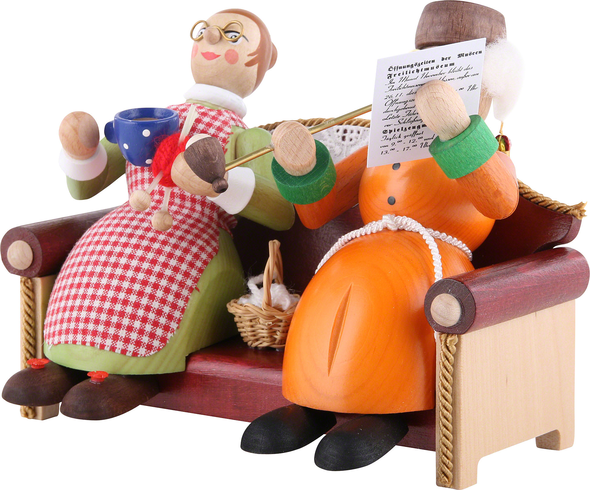Oma auf dem Leder Sofa gebumst