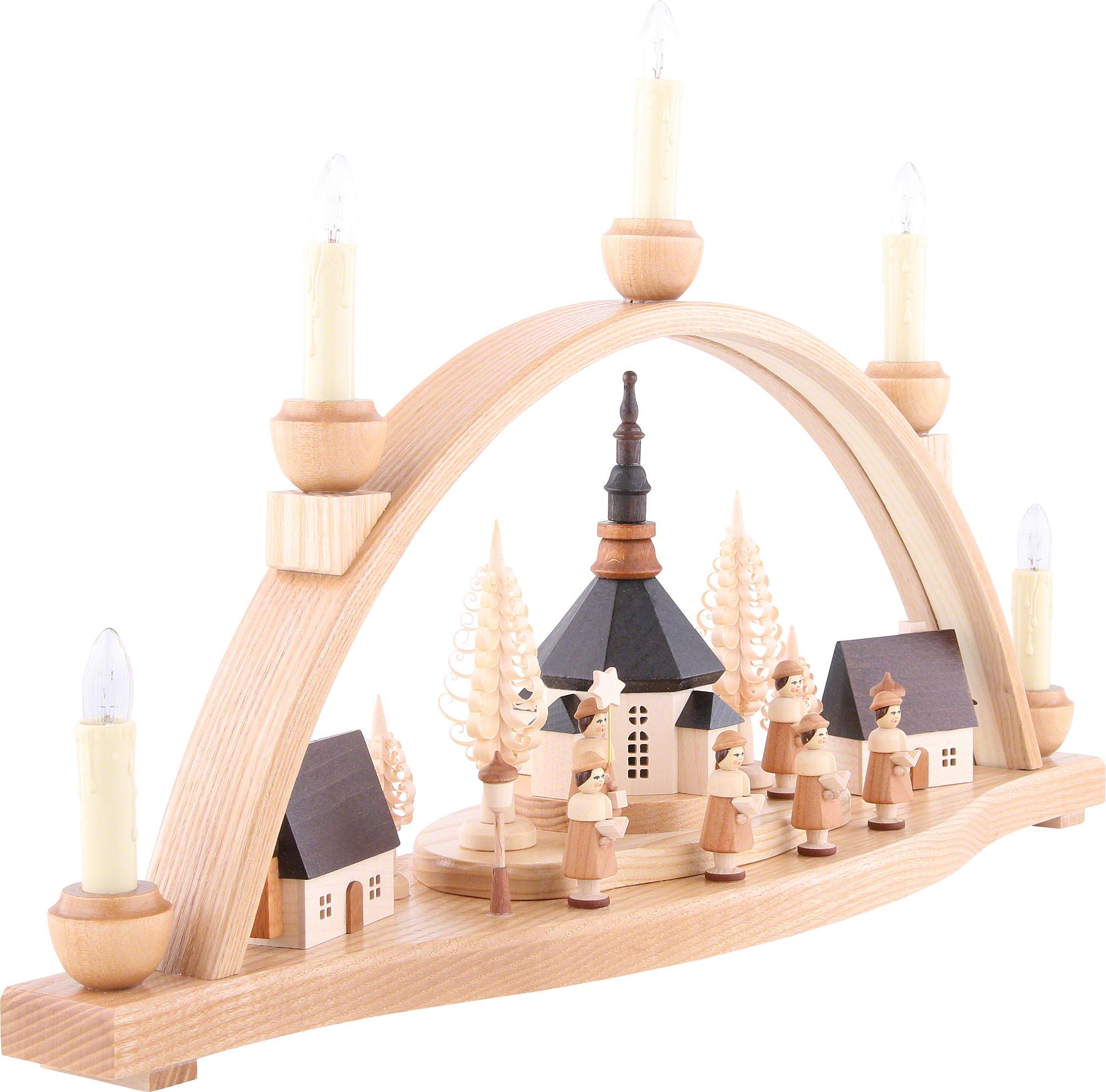 schwibbogen seiffener kirche 52 30 14 cm von knuth neuber. Black Bedroom Furniture Sets. Home Design Ideas