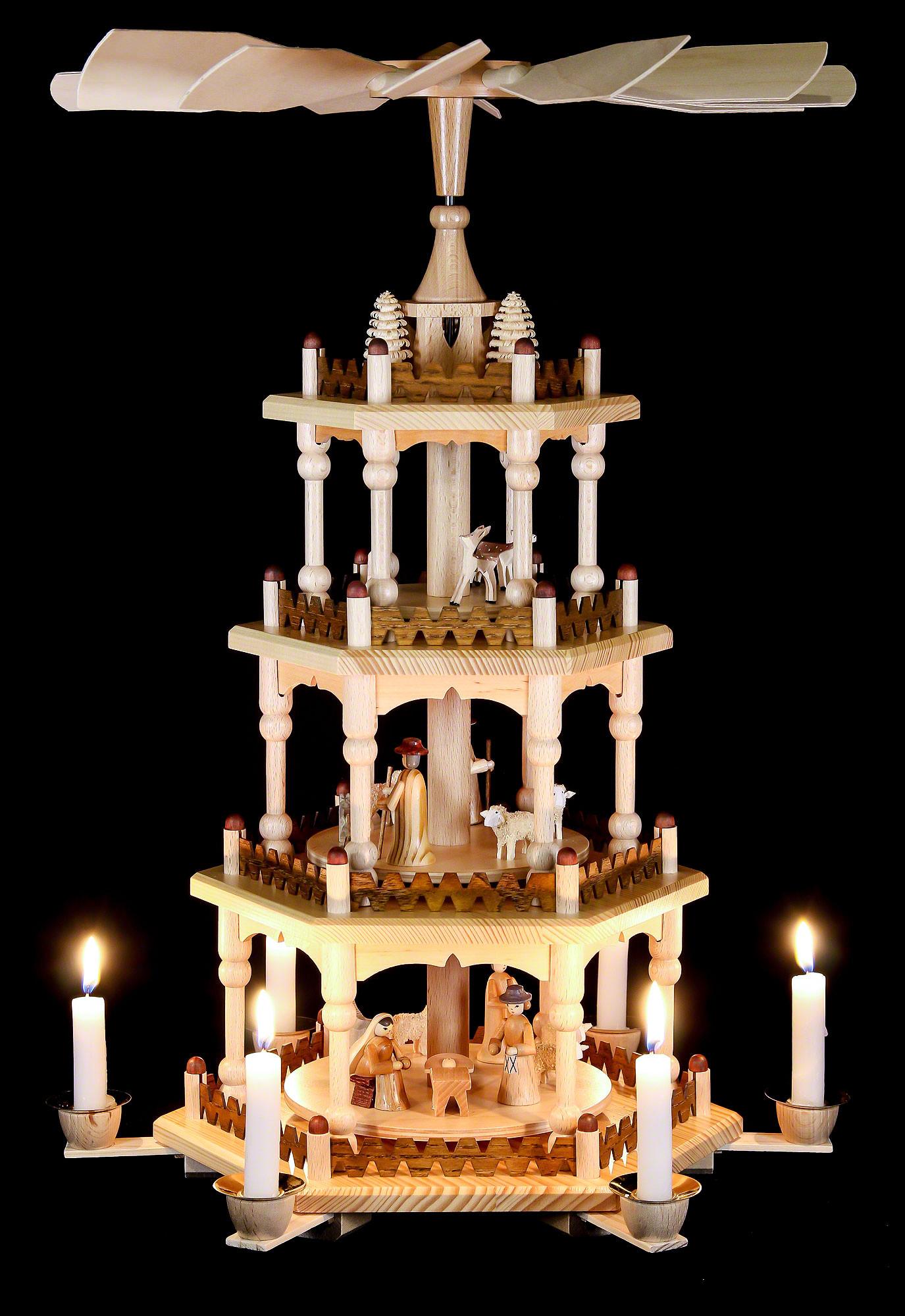 4 tier pyramid merry christmas 51 cm20in by theo lorenz kunsthandwerk