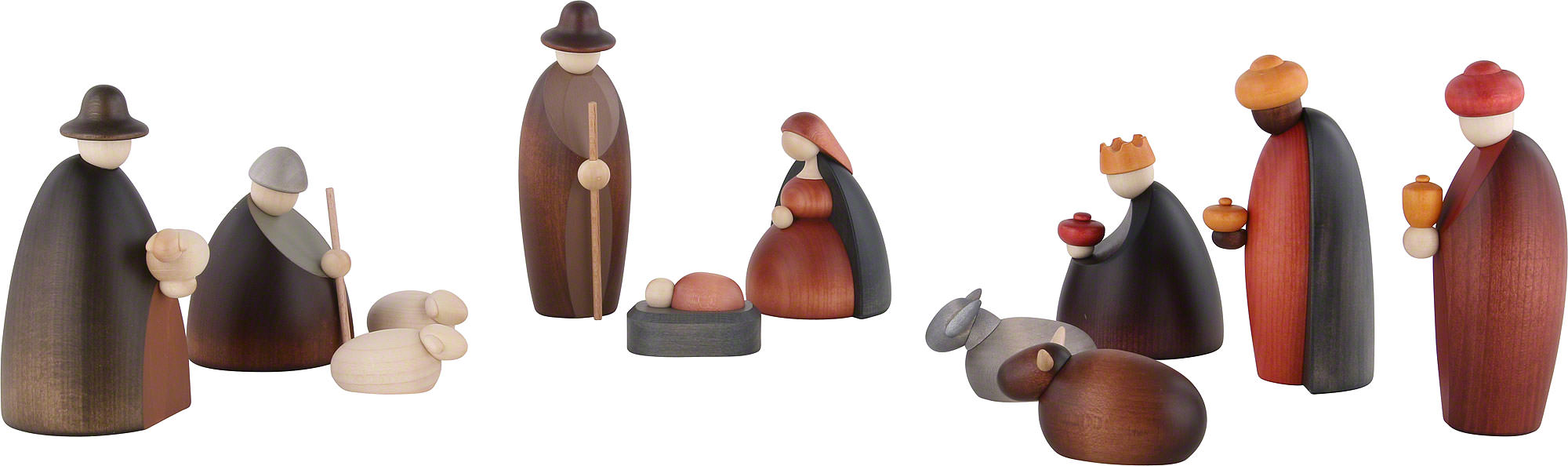 nativity set of 12 pieces 12 cm by bj rn k hler kunsthandwerk. Black Bedroom Furniture Sets. Home Design Ideas