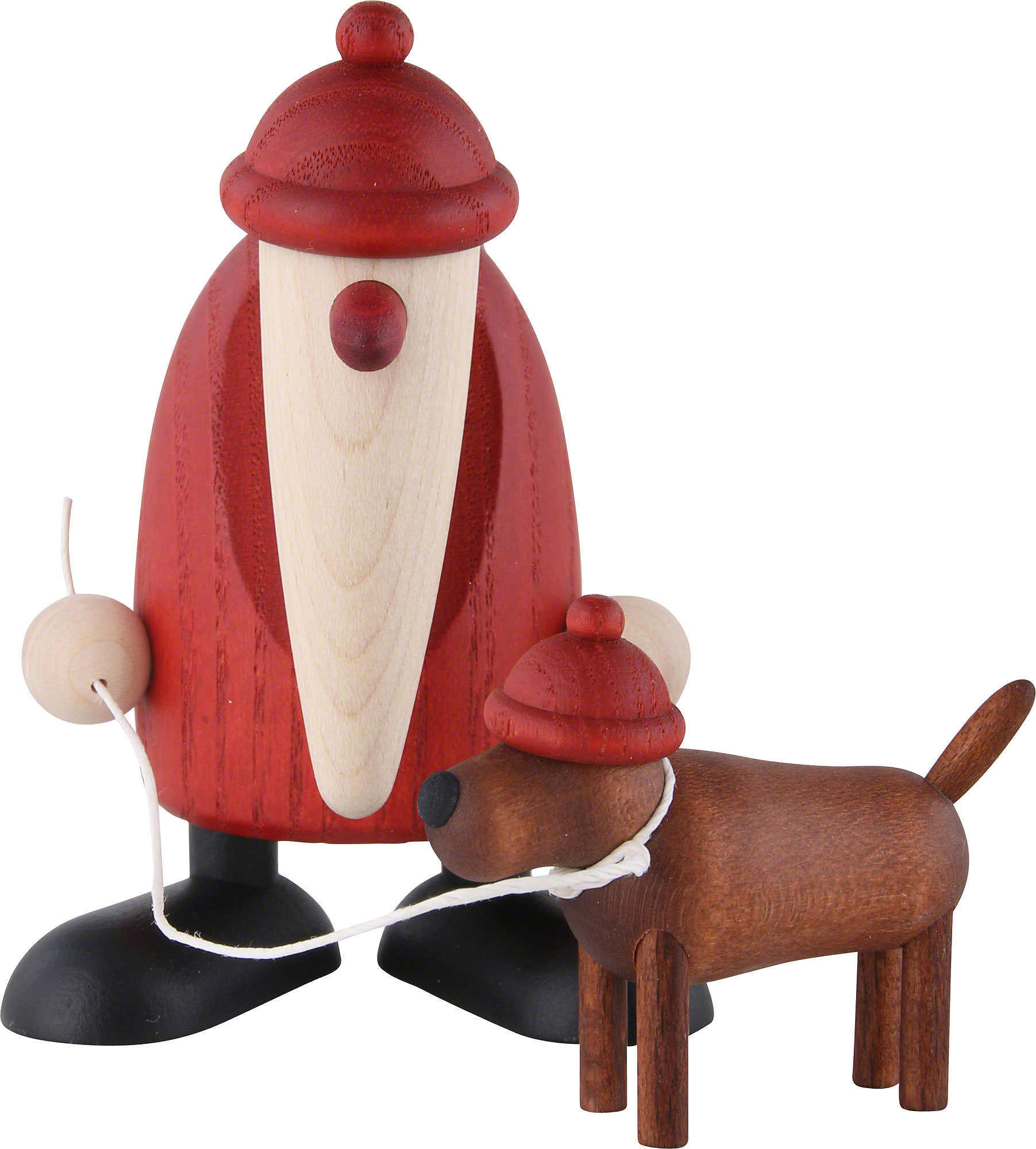 santa claus with dachshound waldemar 9 cm by bj rn k hler kunsthandwerk. Black Bedroom Furniture Sets. Home Design Ideas