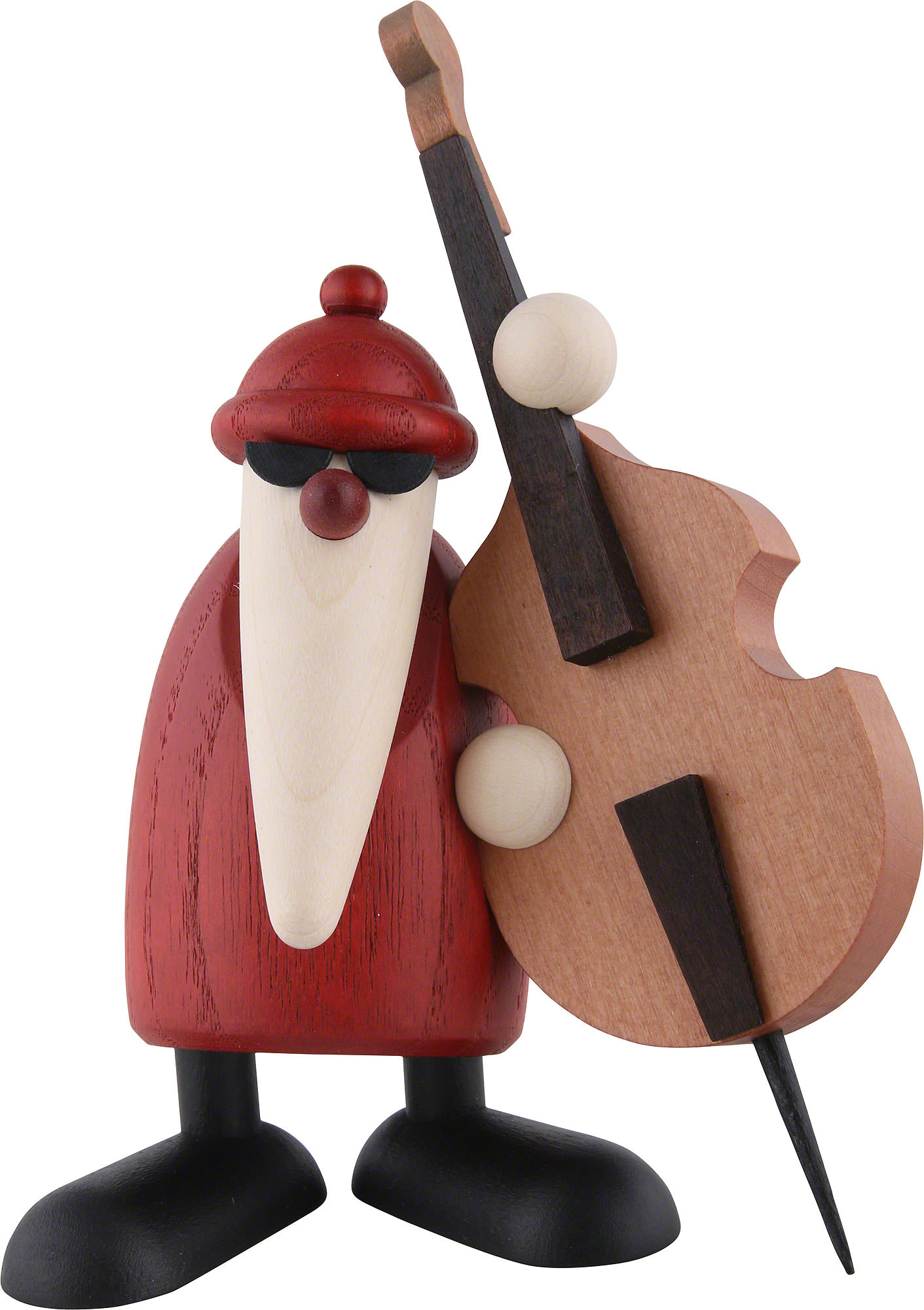 santa claus playing the double bass 12 cm by bj rn k hler kunsthandwerk. Black Bedroom Furniture Sets. Home Design Ideas