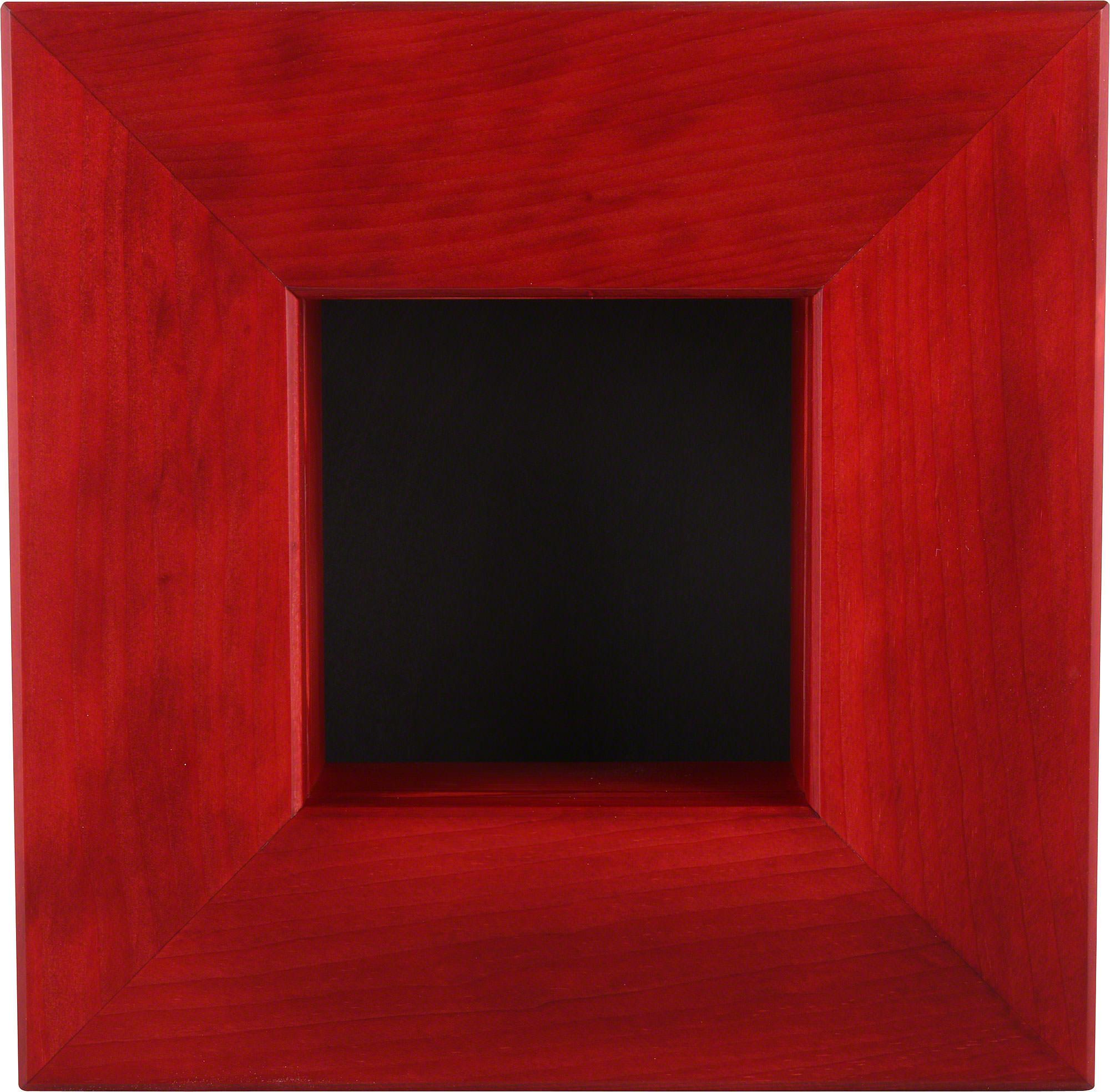 Wandrahmen rot (23×23×8 cm) von Björn Köhler Kunsthandwerk