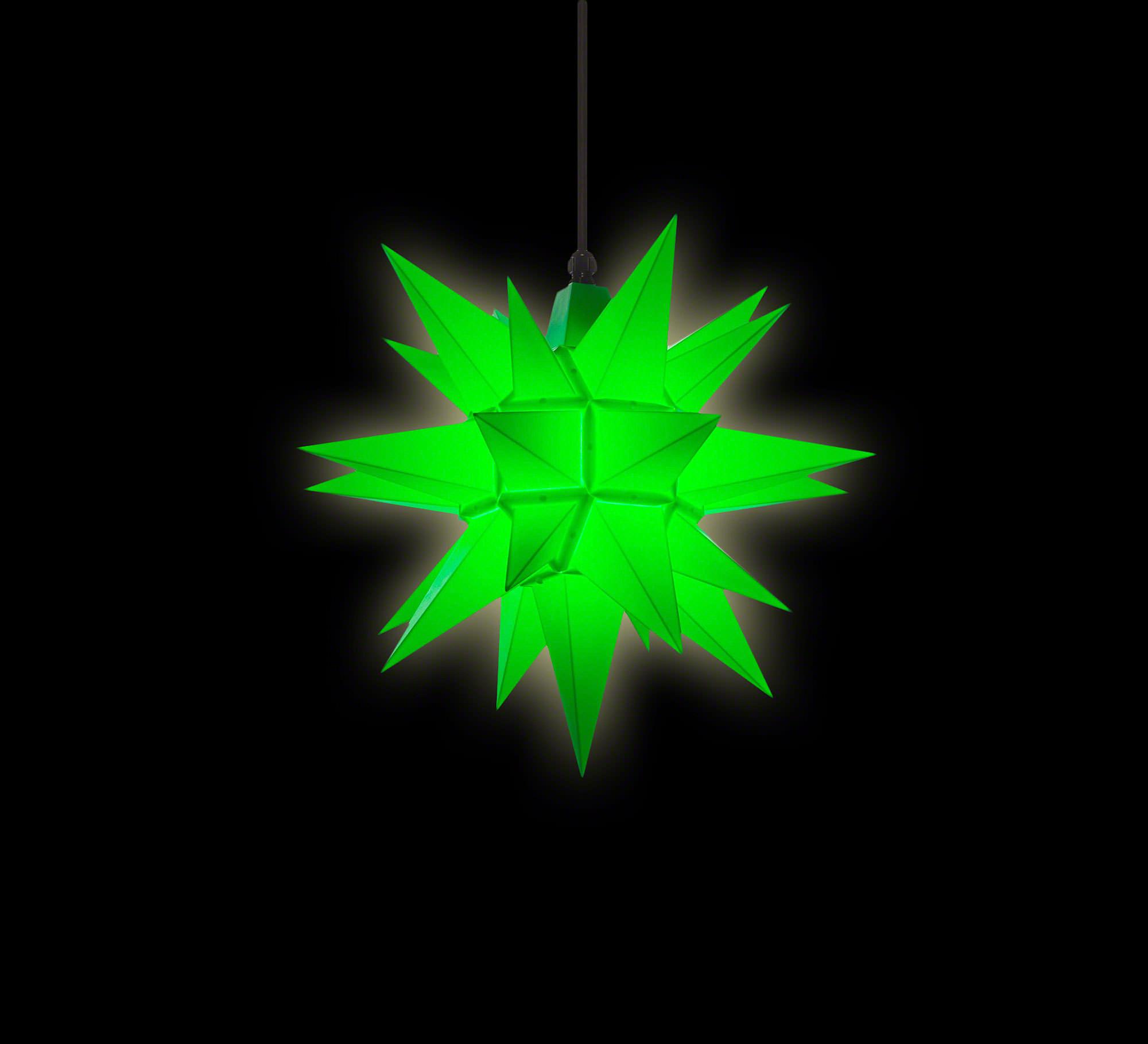 herrnhuter moravian star a4 green plastic 40cm 16in by herrnhuter sterne. Black Bedroom Furniture Sets. Home Design Ideas