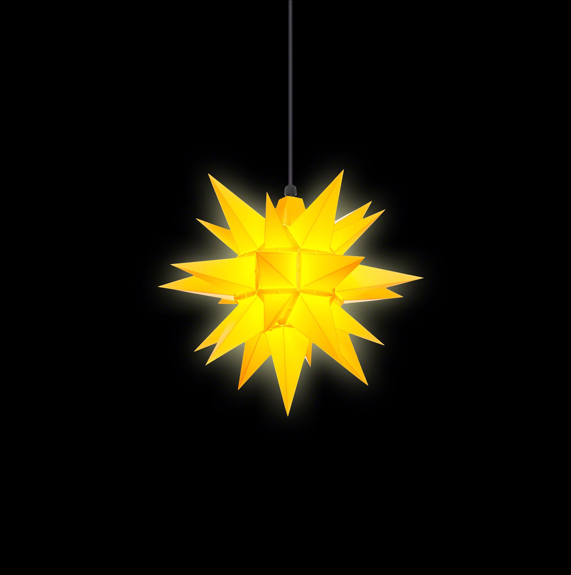 herrnhuter moravian star a4 yellow plastic 40cm 16in by herrnhuter sterne. Black Bedroom Furniture Sets. Home Design Ideas