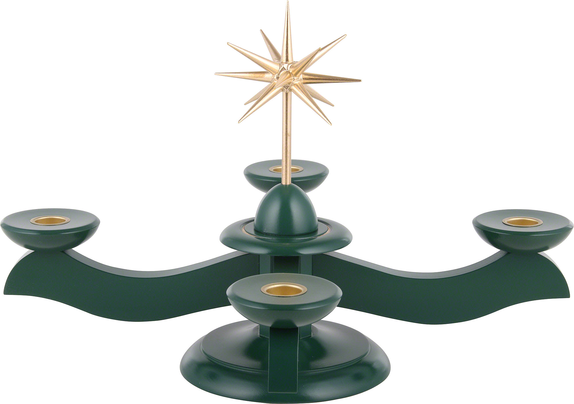 Candle holder width christmas star and advent green 29 for Christmas candle displays