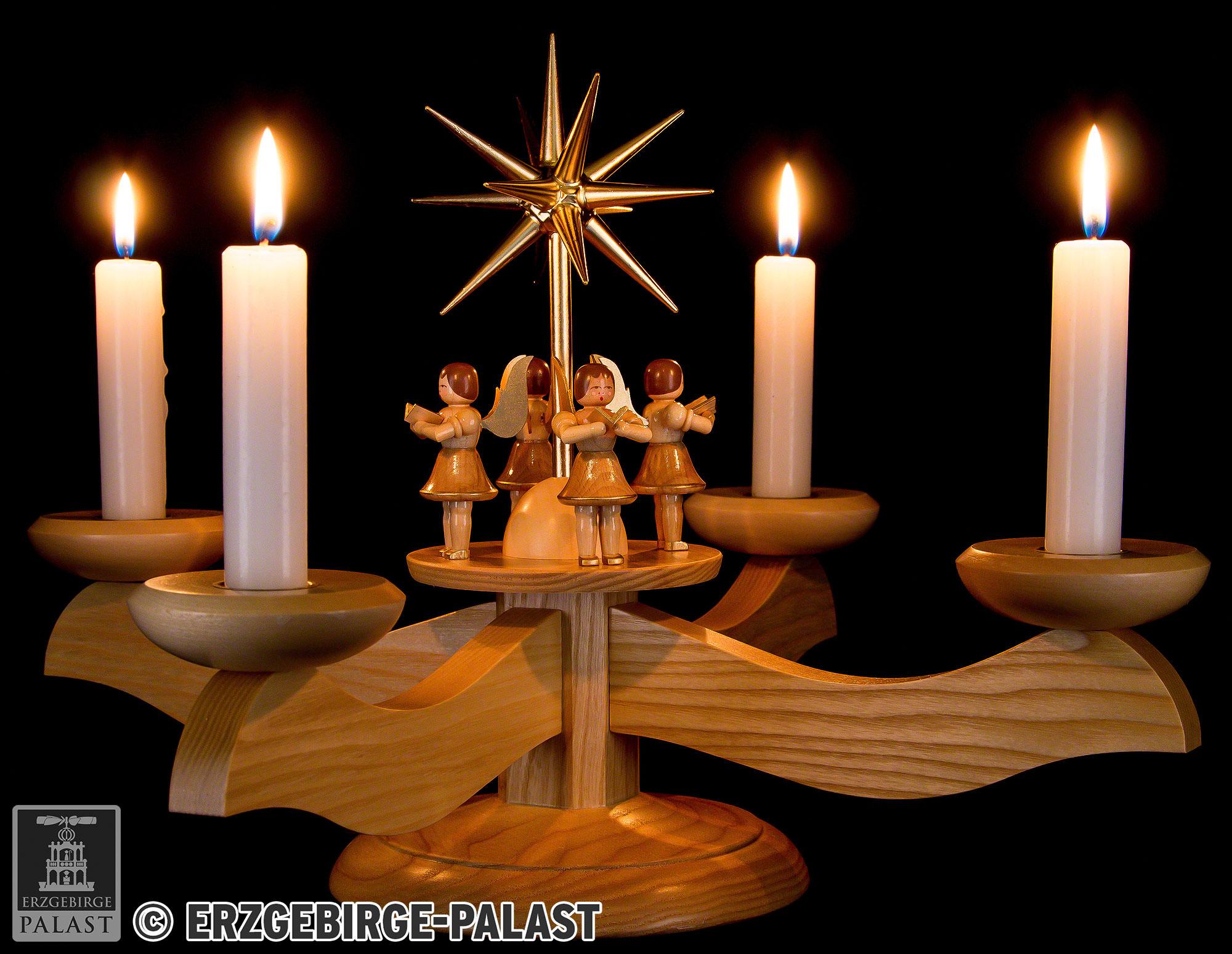 Candle Holder 4 Angels Natural 26 Cm 10 2in By Albin Preissler