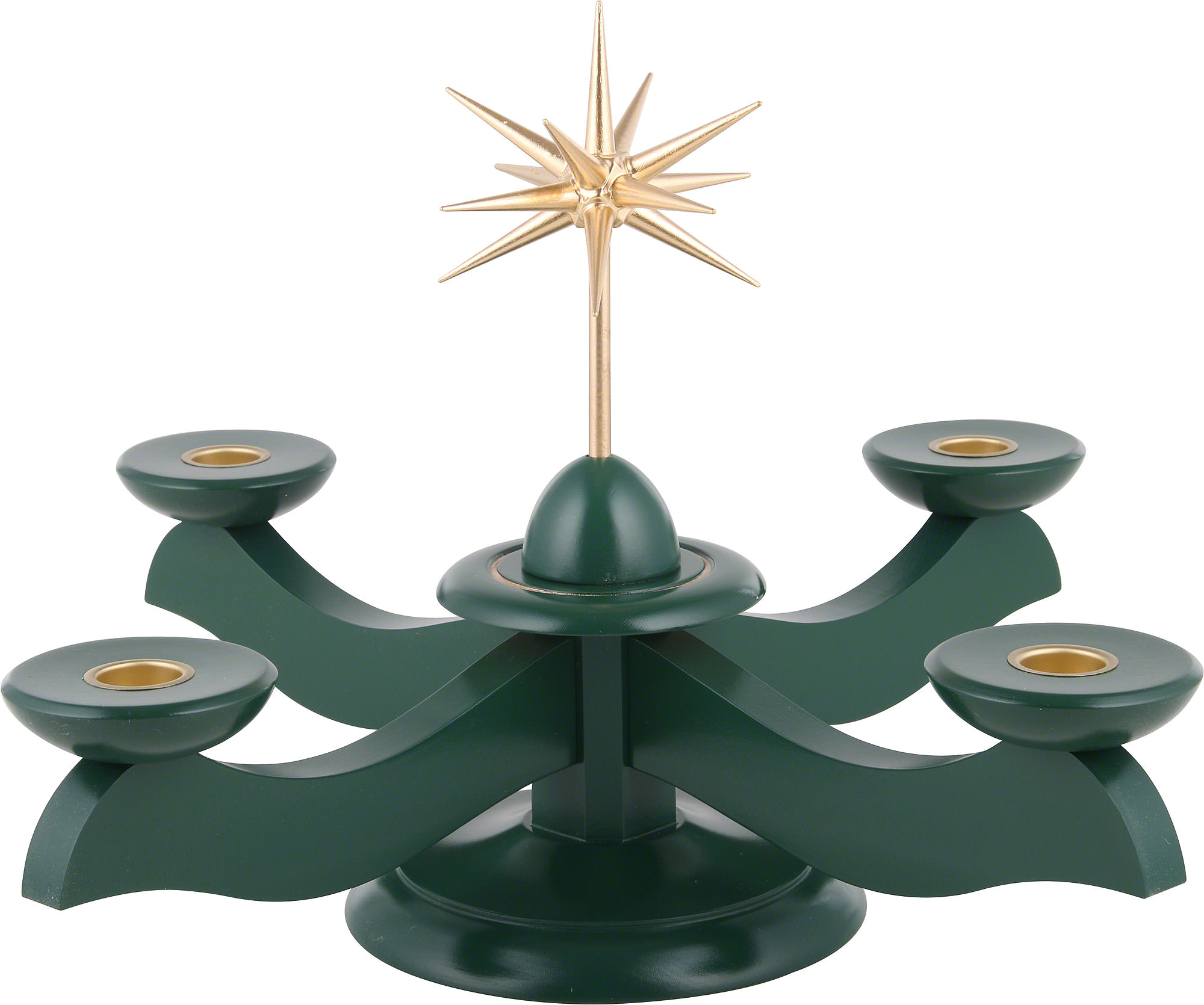 adventsleuchter mit weihnachtsstern und adventsgrün (29×29×26 cm