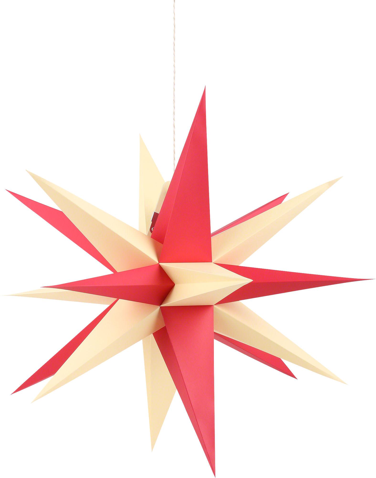 Rot-Gelb 35cm Erzgebirge Annaberger Faltstern Weihnachtsstern