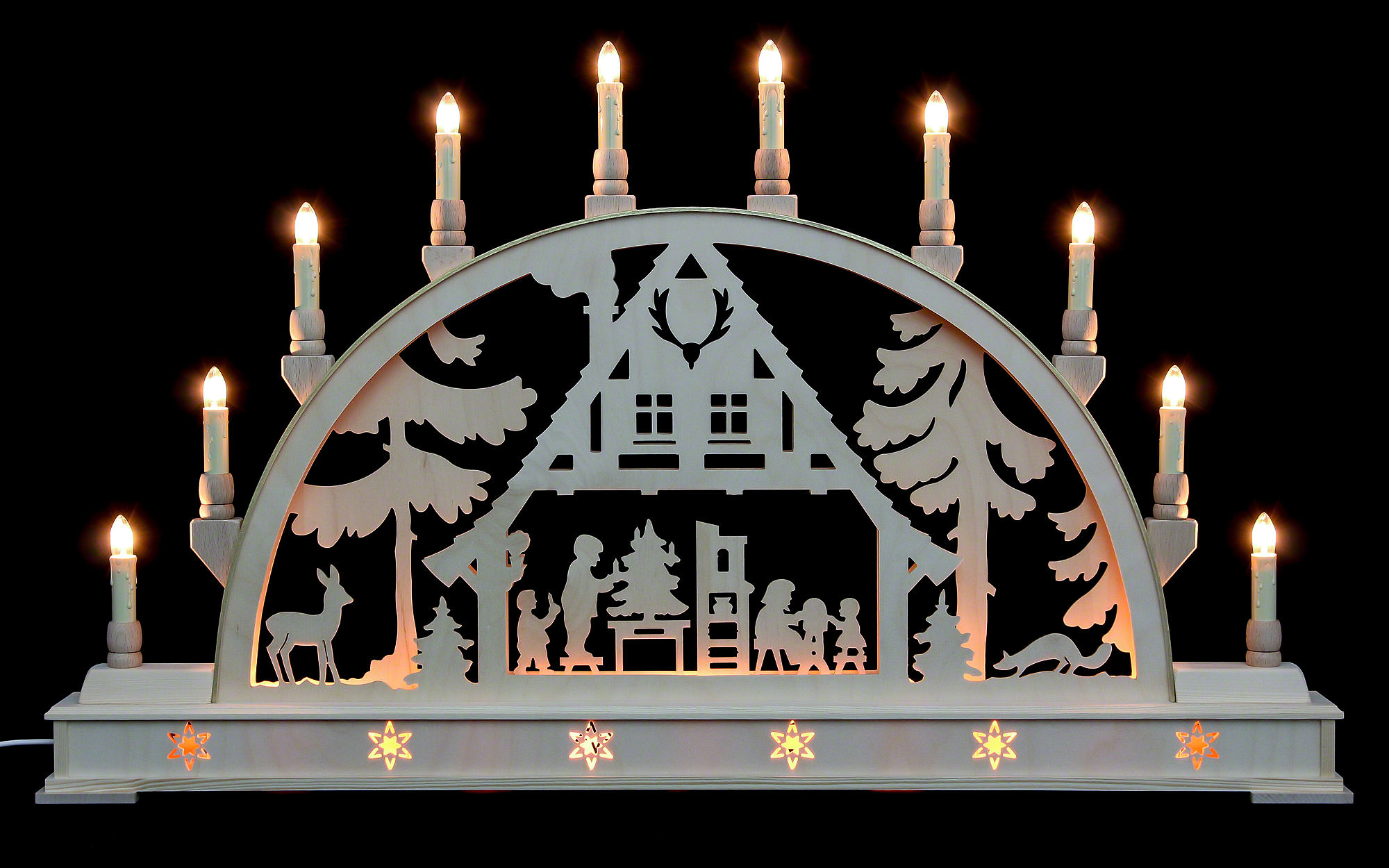 candle arch christmas house with base 78 45 cm 31 18in. Black Bedroom Furniture Sets. Home Design Ideas