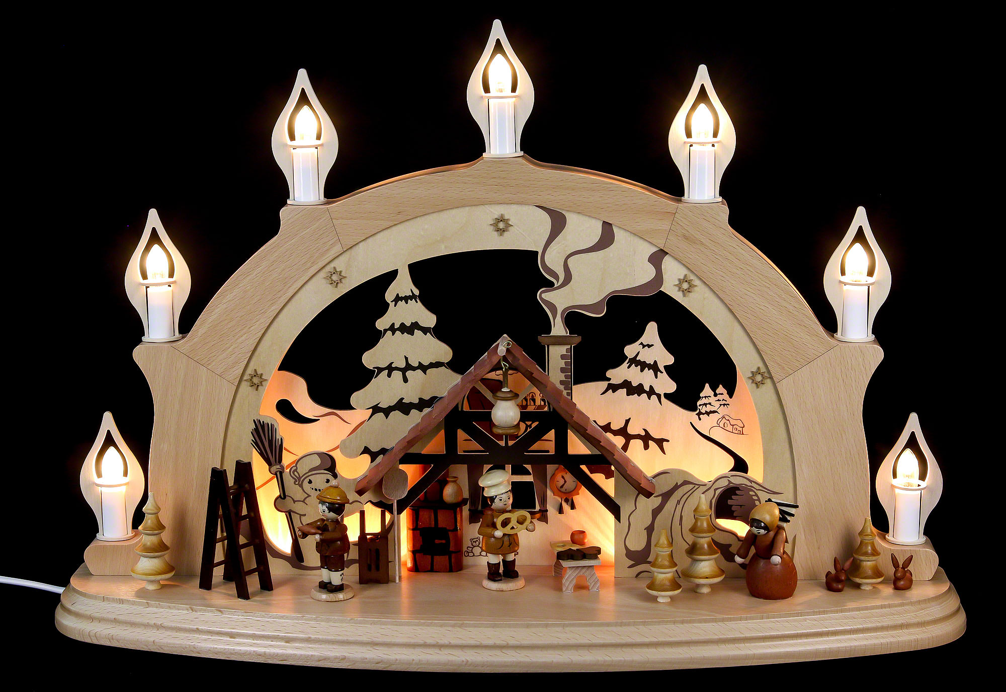 candle arch christmas parlor 57 38 15 cm 22 15 6in by. Black Bedroom Furniture Sets. Home Design Ideas