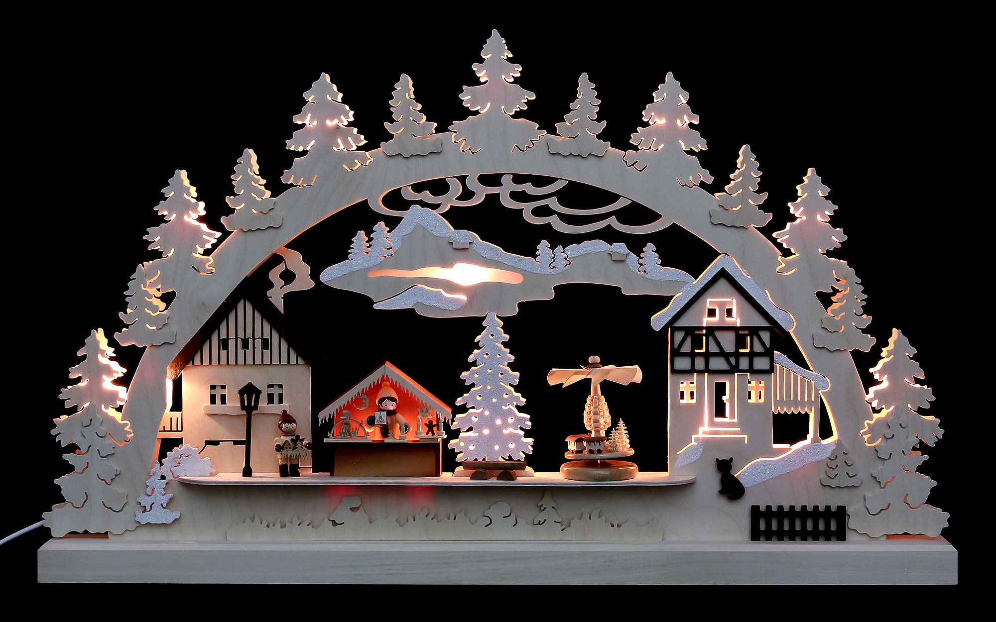 Christmas Village.Candle Arch Christmas Village 62x37x5 5 Cm 24x14x2 Inch