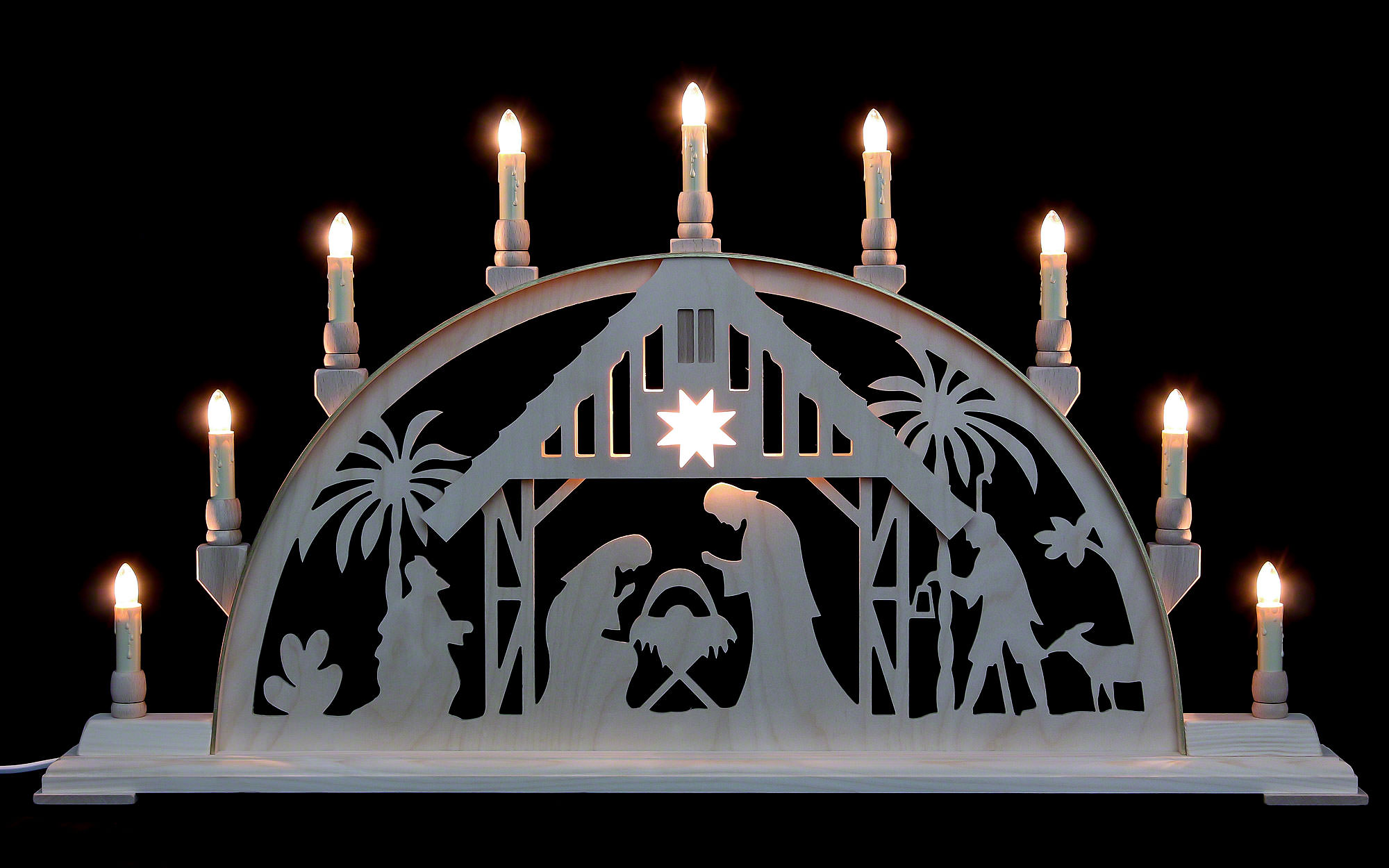 candle arch nativity scene 78 42 cm 31 17in by. Black Bedroom Furniture Sets. Home Design Ideas