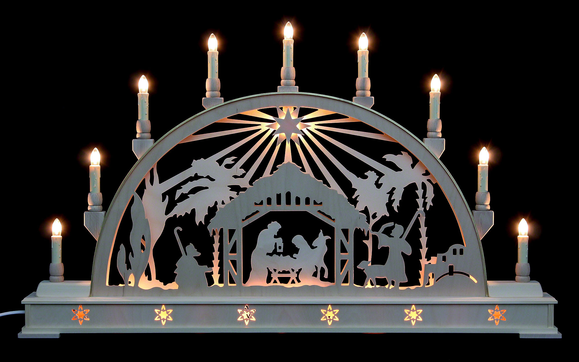 Candle Arch Nativity Scene With Star And Base 78 215 45 Cm