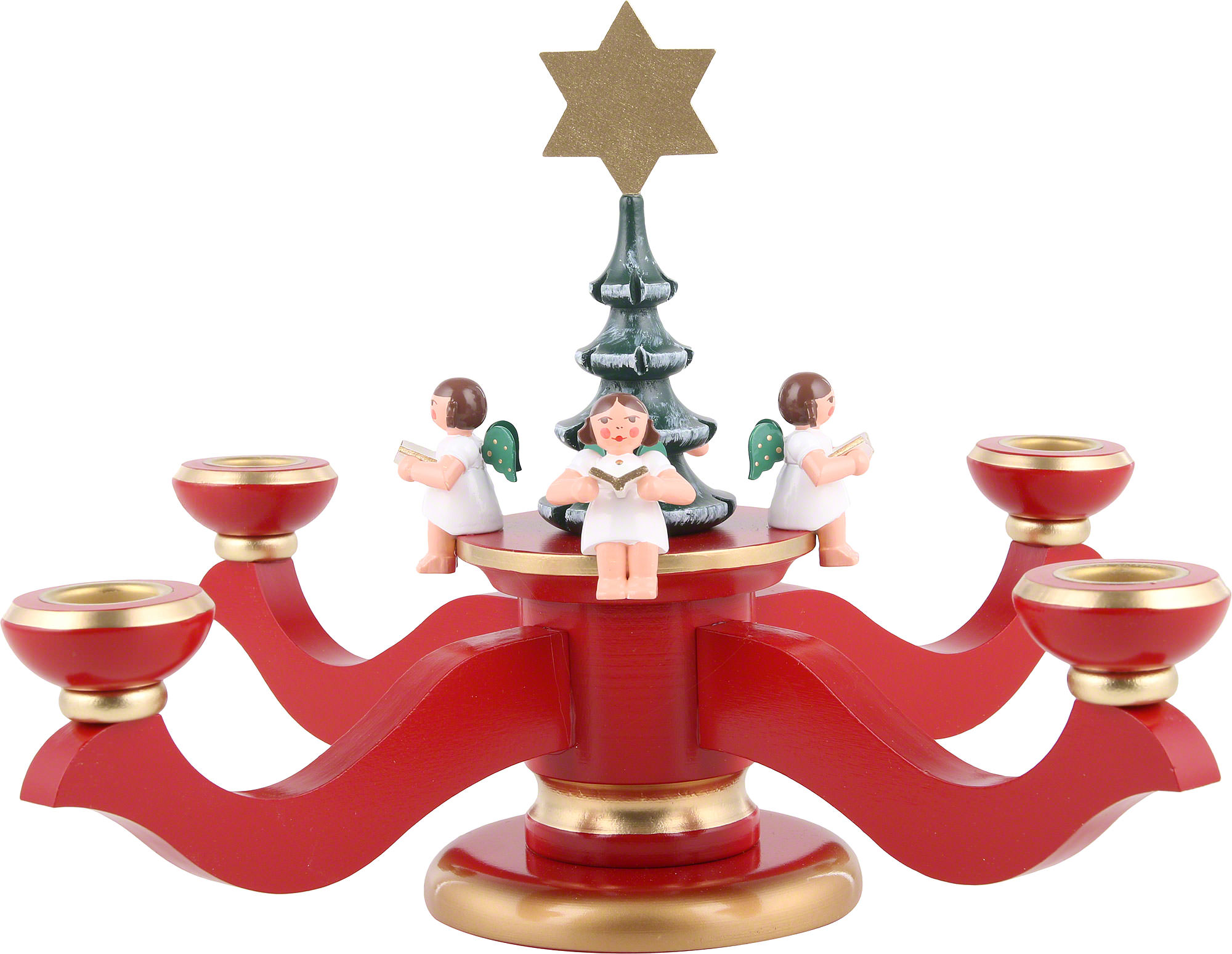 candle holder advent red 20 cm 8in by christian ulbricht. Black Bedroom Furniture Sets. Home Design Ideas