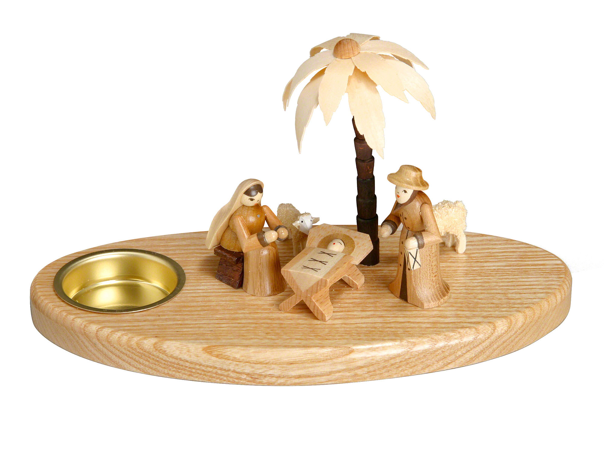 Candle Holder Nativity 11 Cm4in By Theo Lorenz Kunsthandwerk
