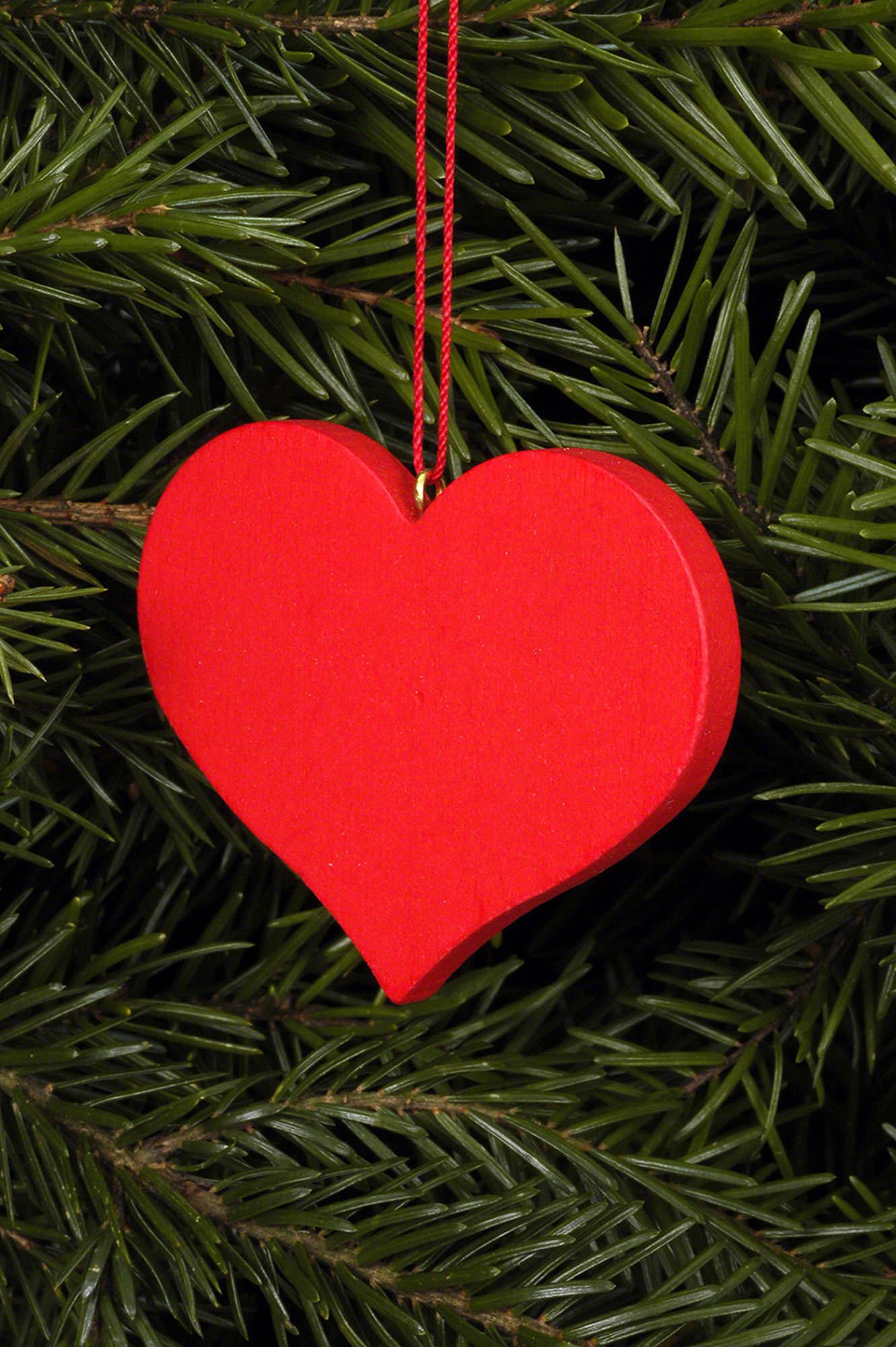 Christbaumschmuck Herz Rot 5 7 4 5 Cm Von Christian Ulbricht