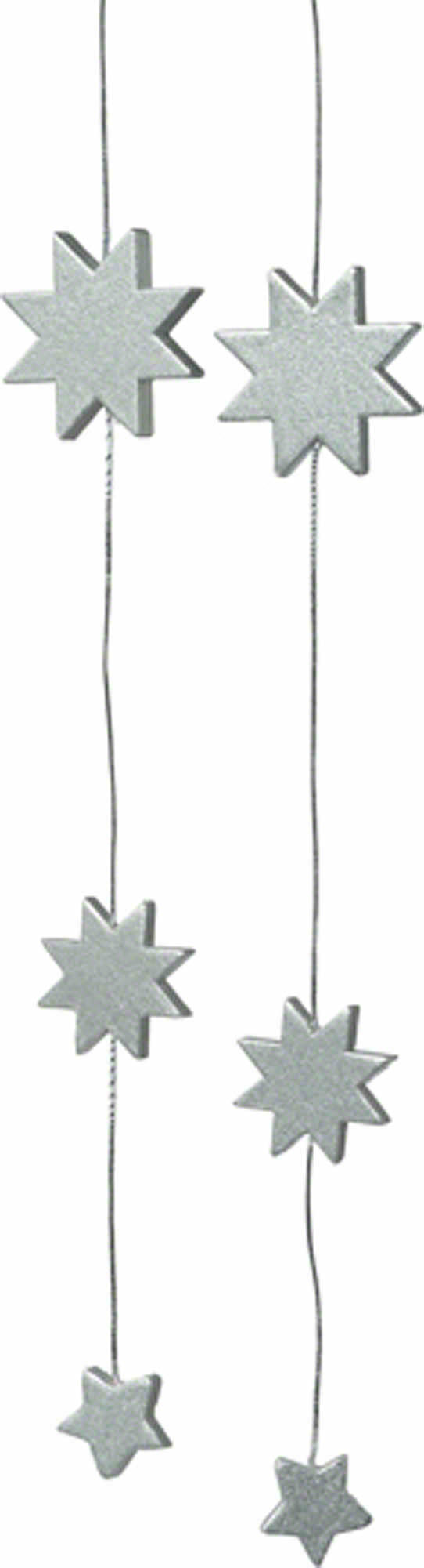 Christbaumschmuck Sterne Silber 38 Cm Von Kwo