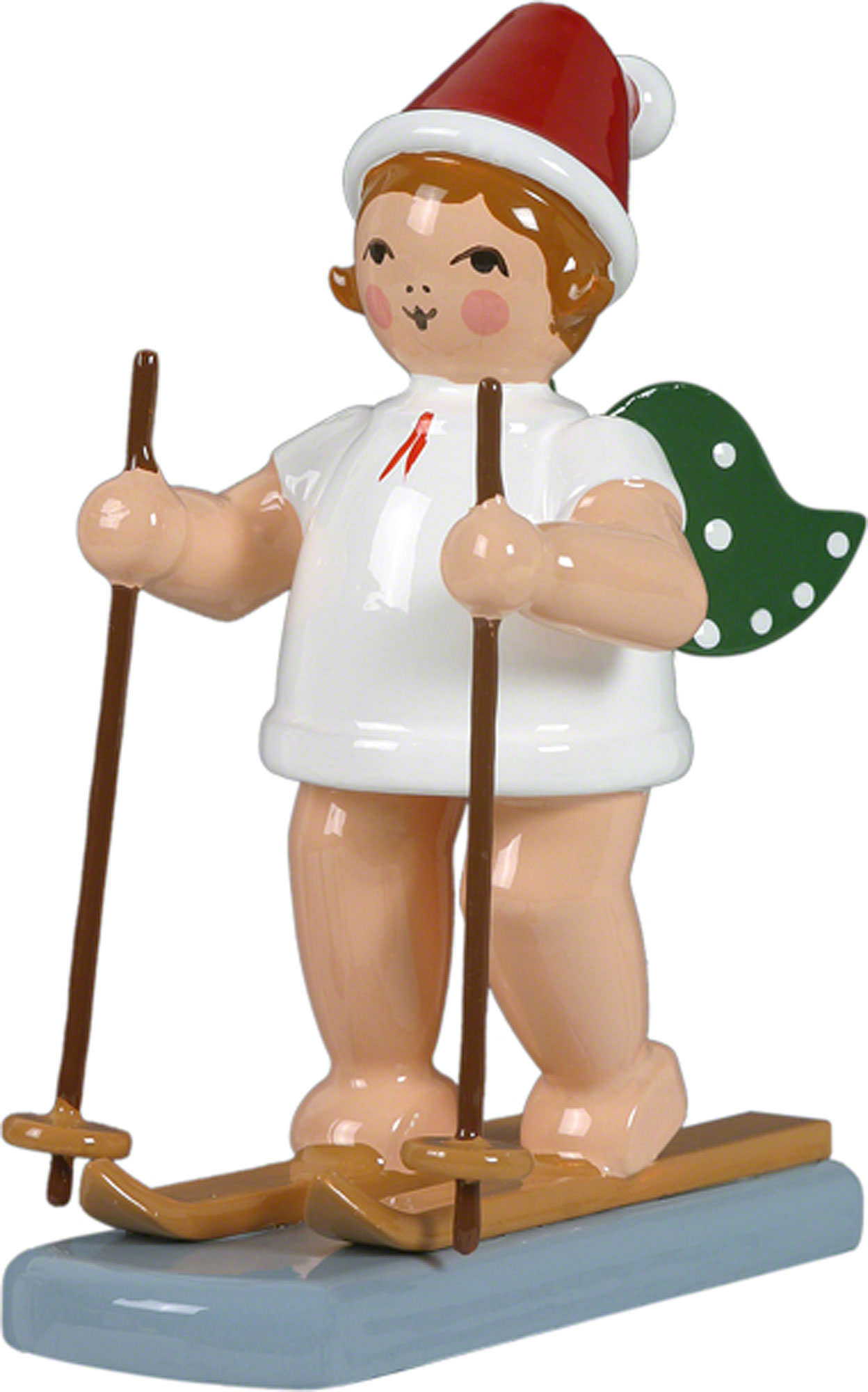 Christmas Angel with Hat and Snow Shoes (6,5 cm/2.5in) by KDE Ellmann