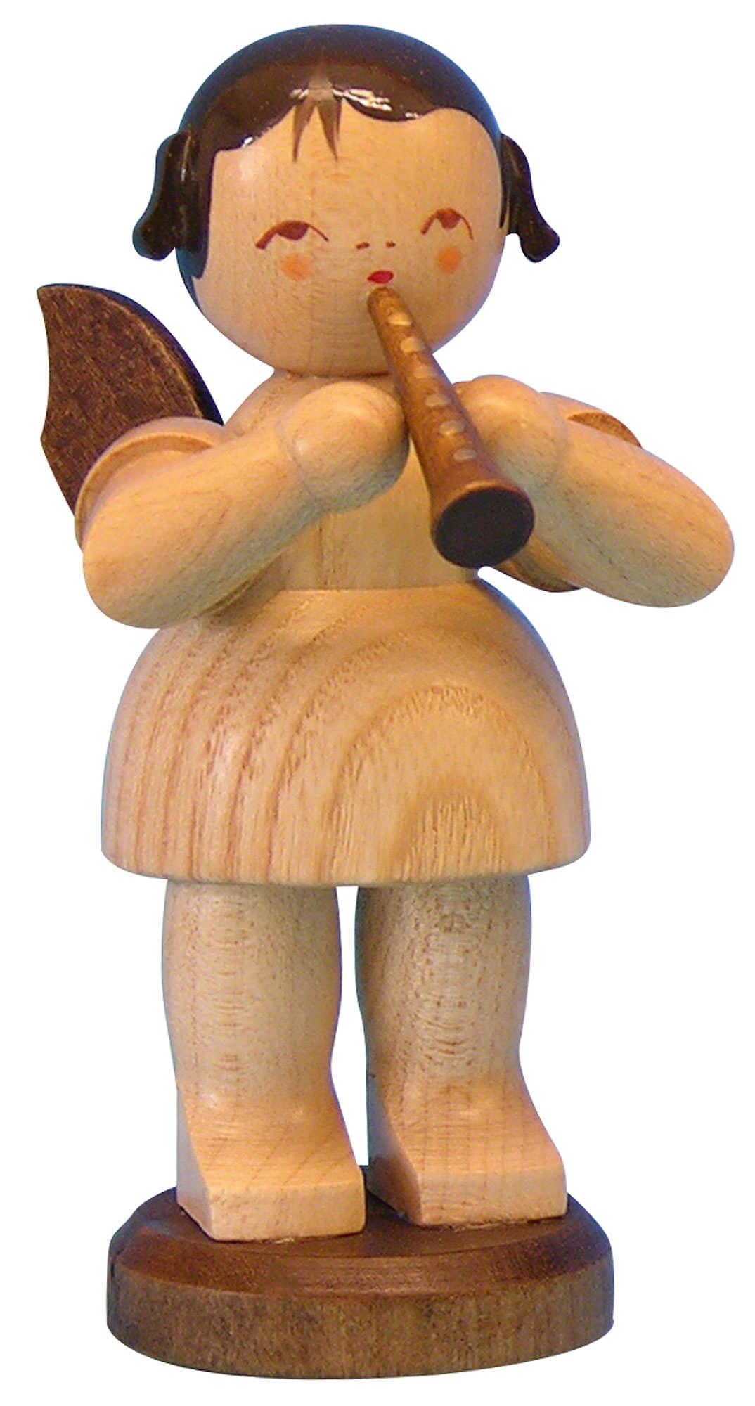 Engel mit Flöte - natur - stehend (9,5 cm) von Uhlig