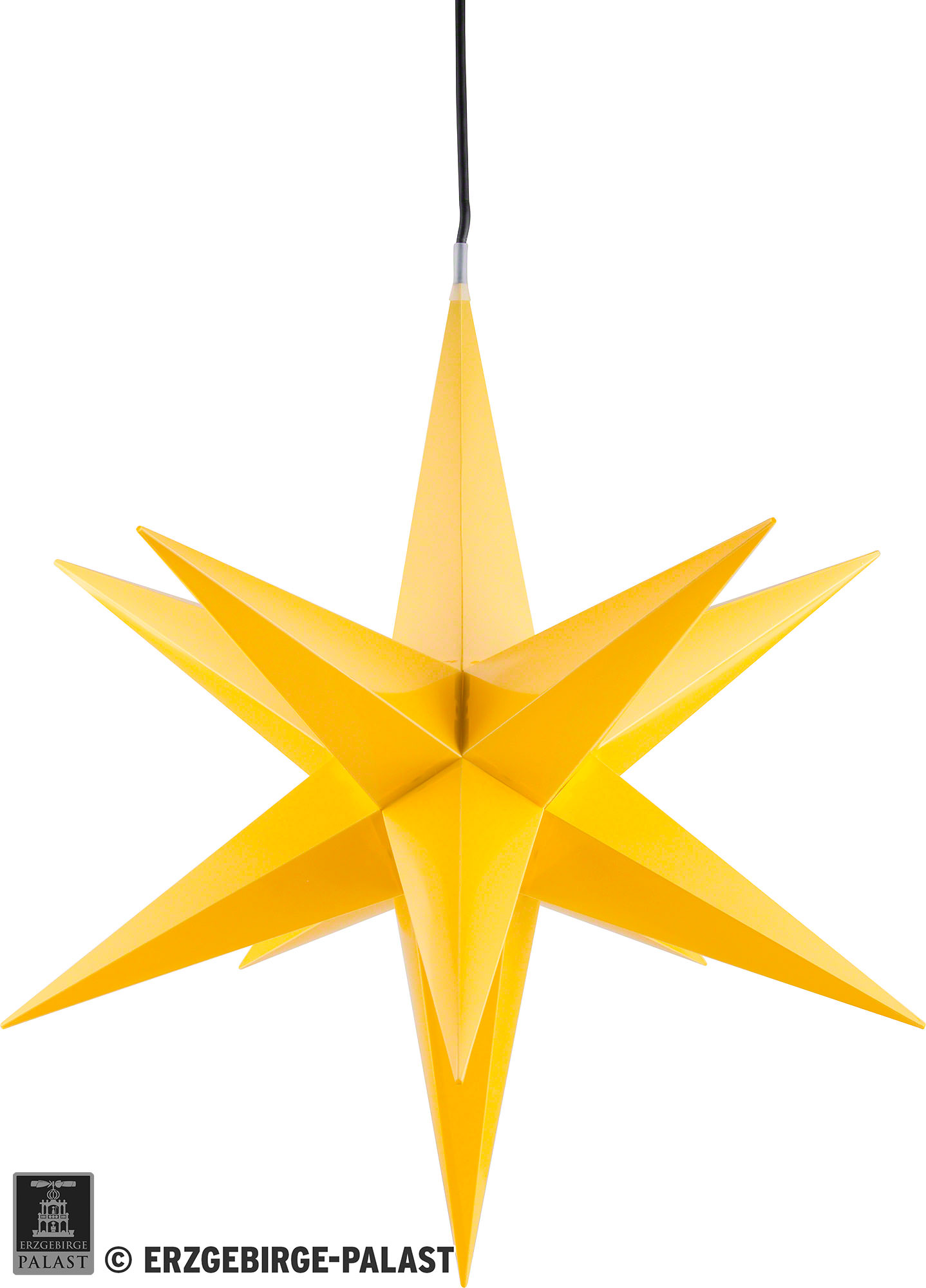 ha lauer weihnachtsstern f r innen und au en gelb inkl beleuchtung 75 cm von ha lauer. Black Bedroom Furniture Sets. Home Design Ideas