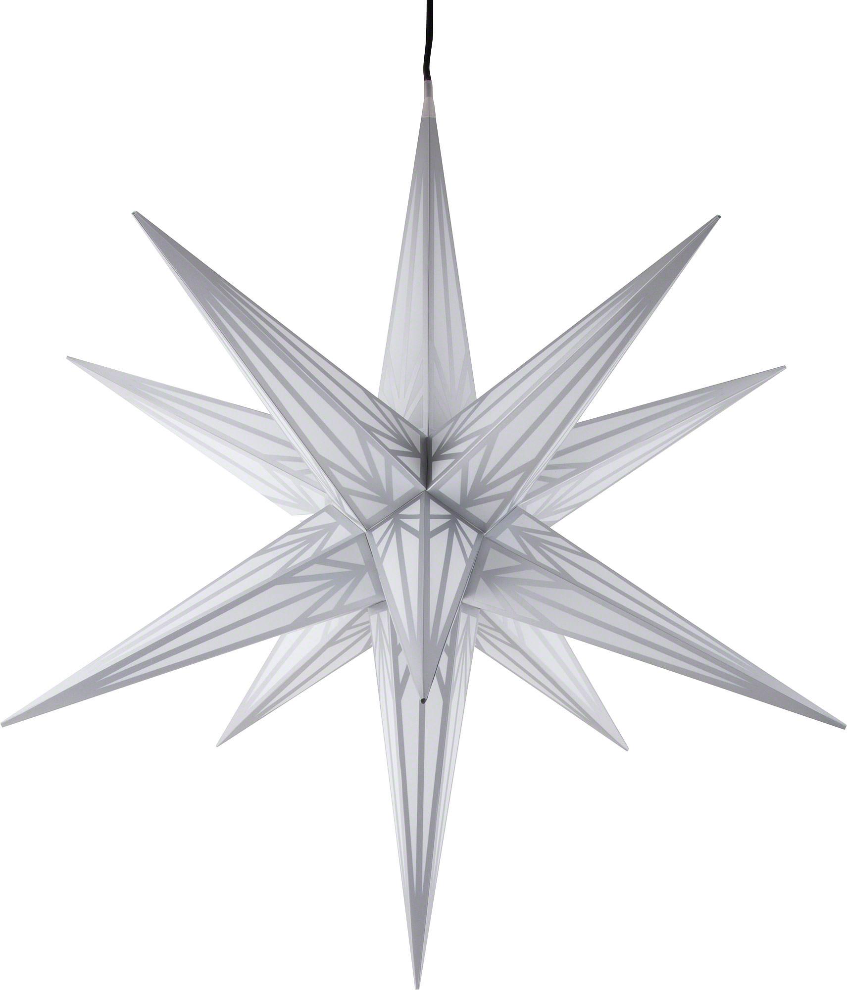 Weihnachtsstern Für Außen Mit Beleuchtung | Hasslauer Weihnachtsstern Fur Innen Und Aussen Weiss Mit Silbermuster