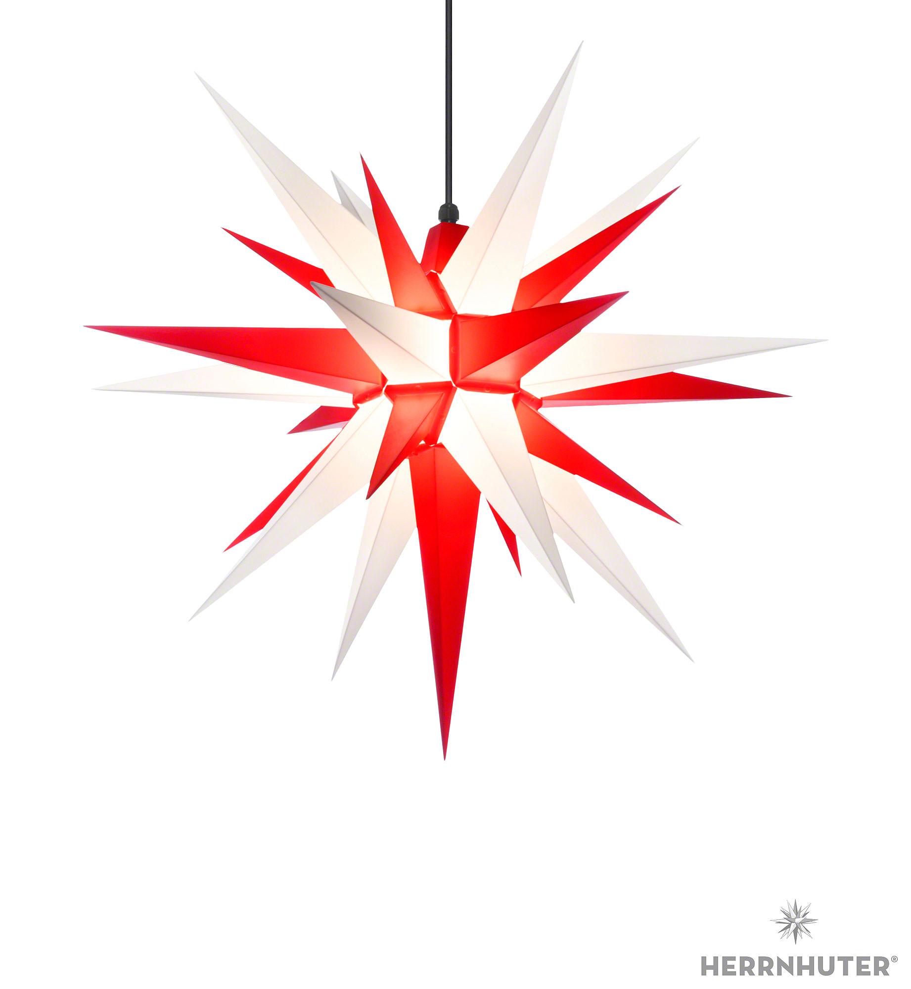 herrnhuter stern a7 weiss rot kunststoff 68 cm von herrnhuter sterne. Black Bedroom Furniture Sets. Home Design Ideas