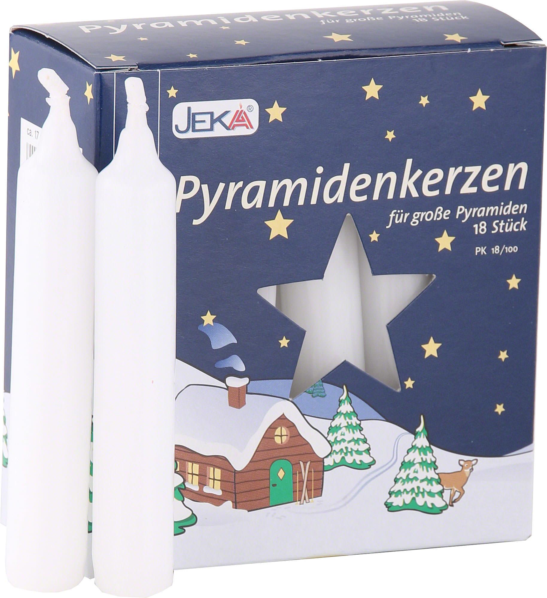hochwertige pyramidenkerzen weiss 1 7 cm durchmesser von jeka ebersbacher kerzen. Black Bedroom Furniture Sets. Home Design Ideas