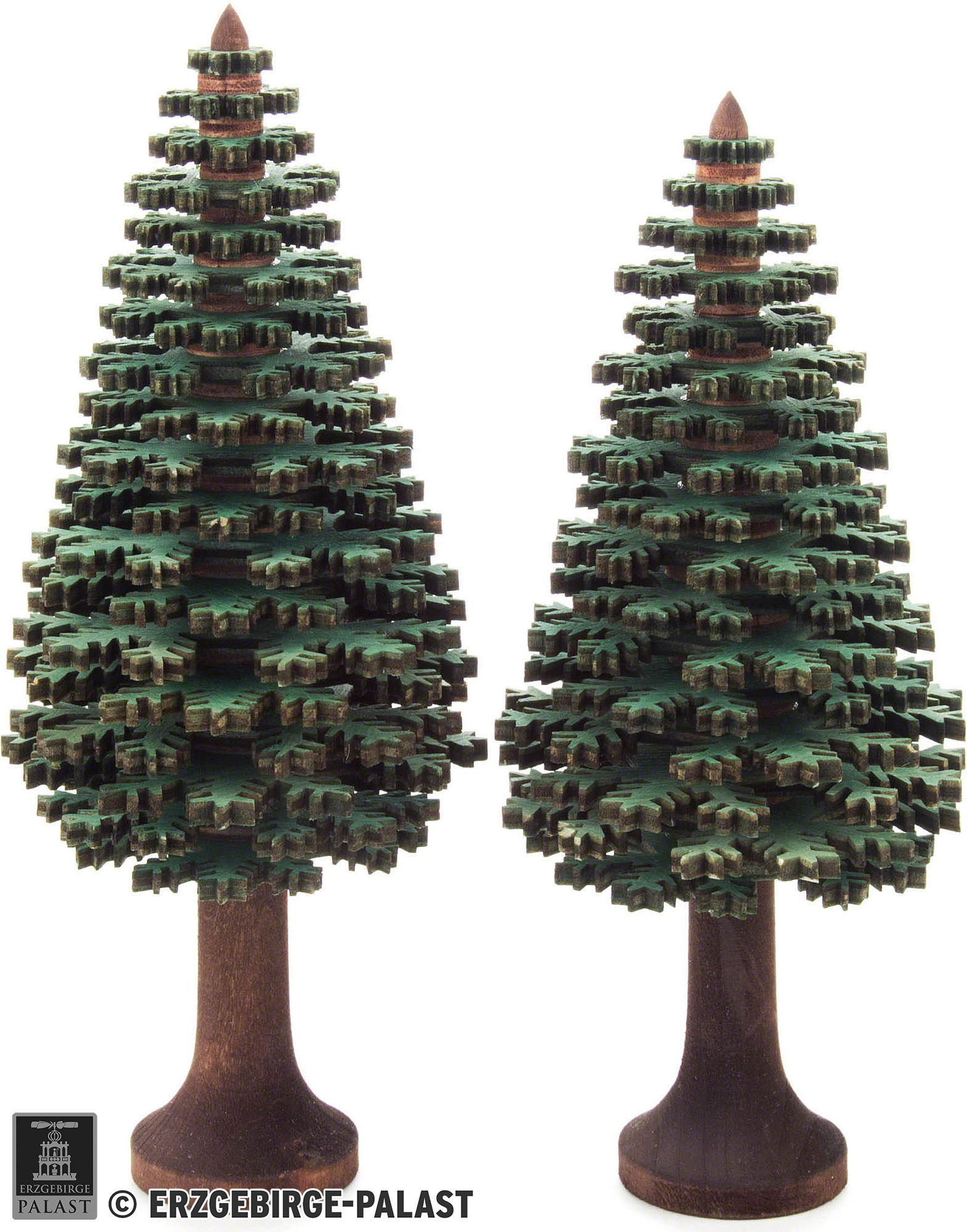 Layered Trees Conifers Green 2 Pieces 14 Cm 5 5in By Dregeno Seiffen