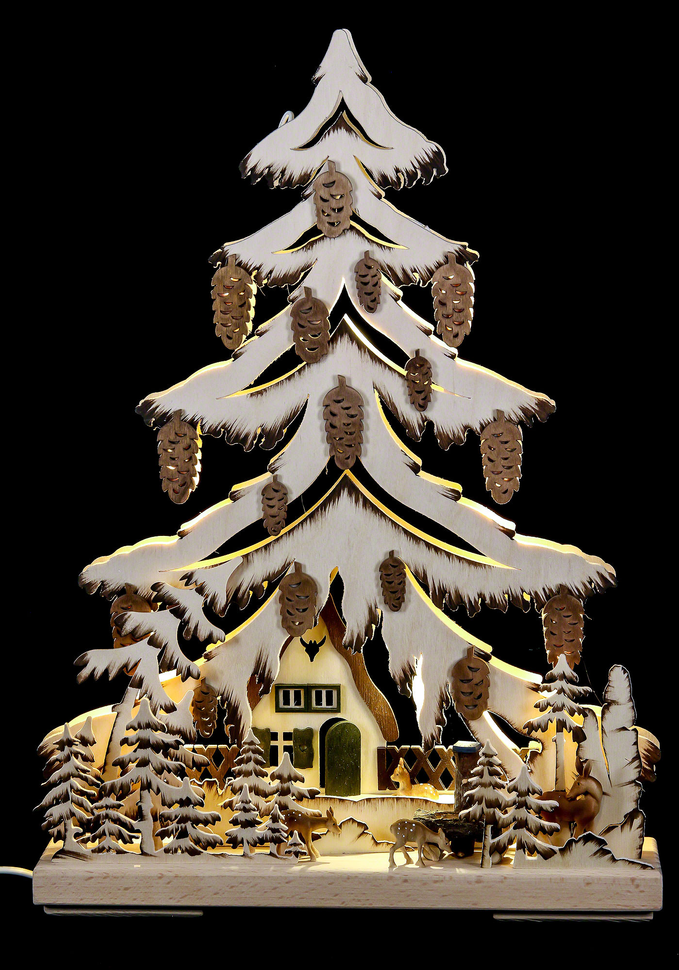 lichterspitze am waldhaus 32 44 cm von ratags holzdesign. Black Bedroom Furniture Sets. Home Design Ideas