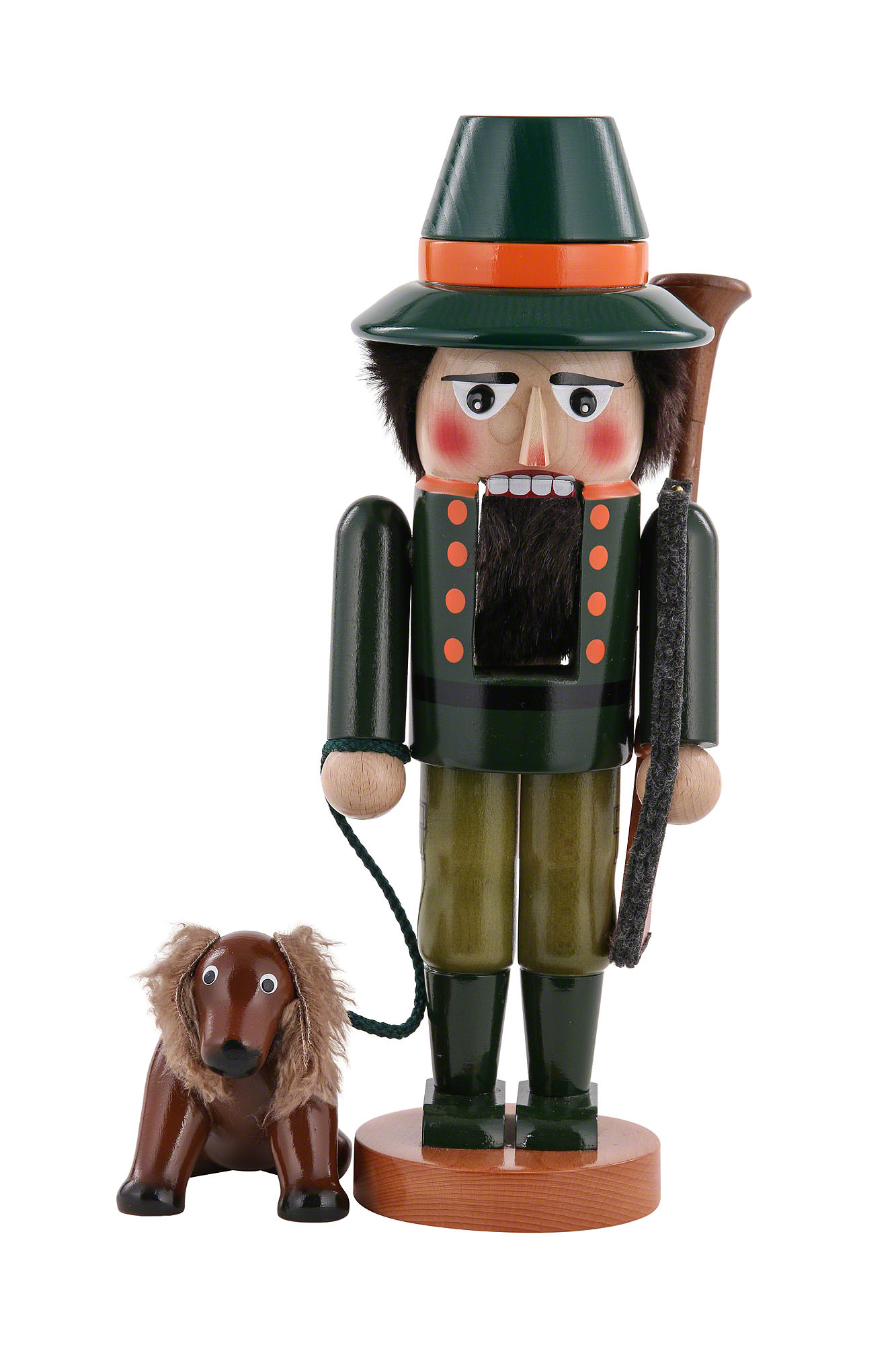 nutcracker hunter with dog 35 cm 14in by steinbach volkskunst. Black Bedroom Furniture Sets. Home Design Ideas